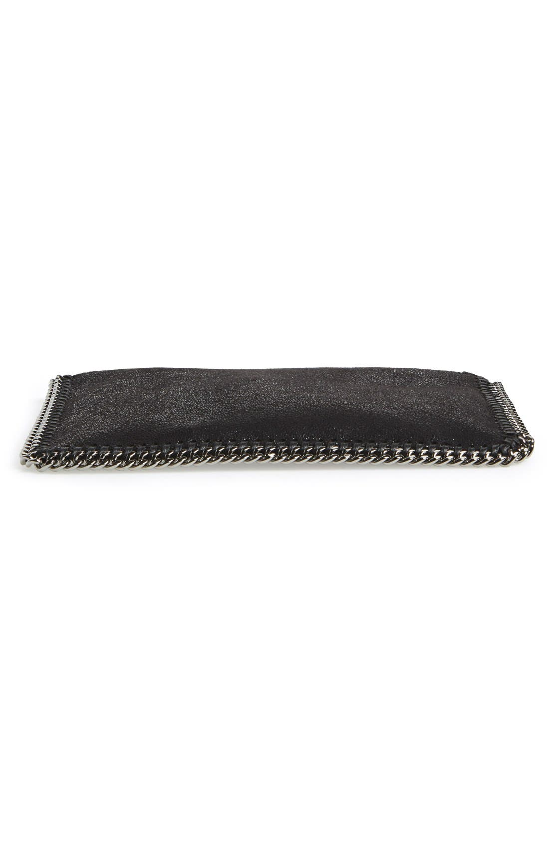 'Falabella' Faux Leather Pouch with Convertible Strap,                             Alternate thumbnail 6, color,                             002