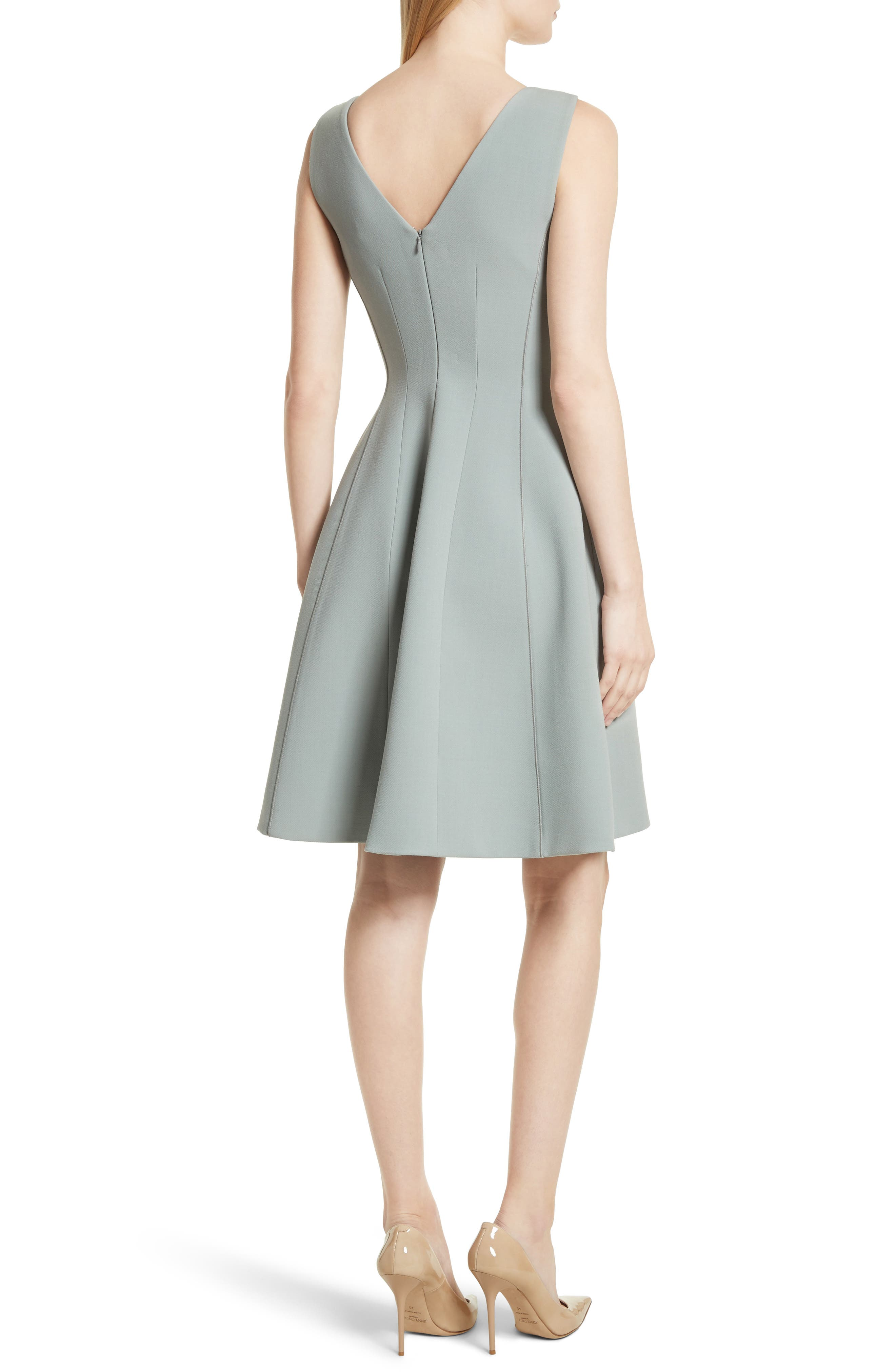 Camogie Fit & Flare Dress,                             Alternate thumbnail 2, color,