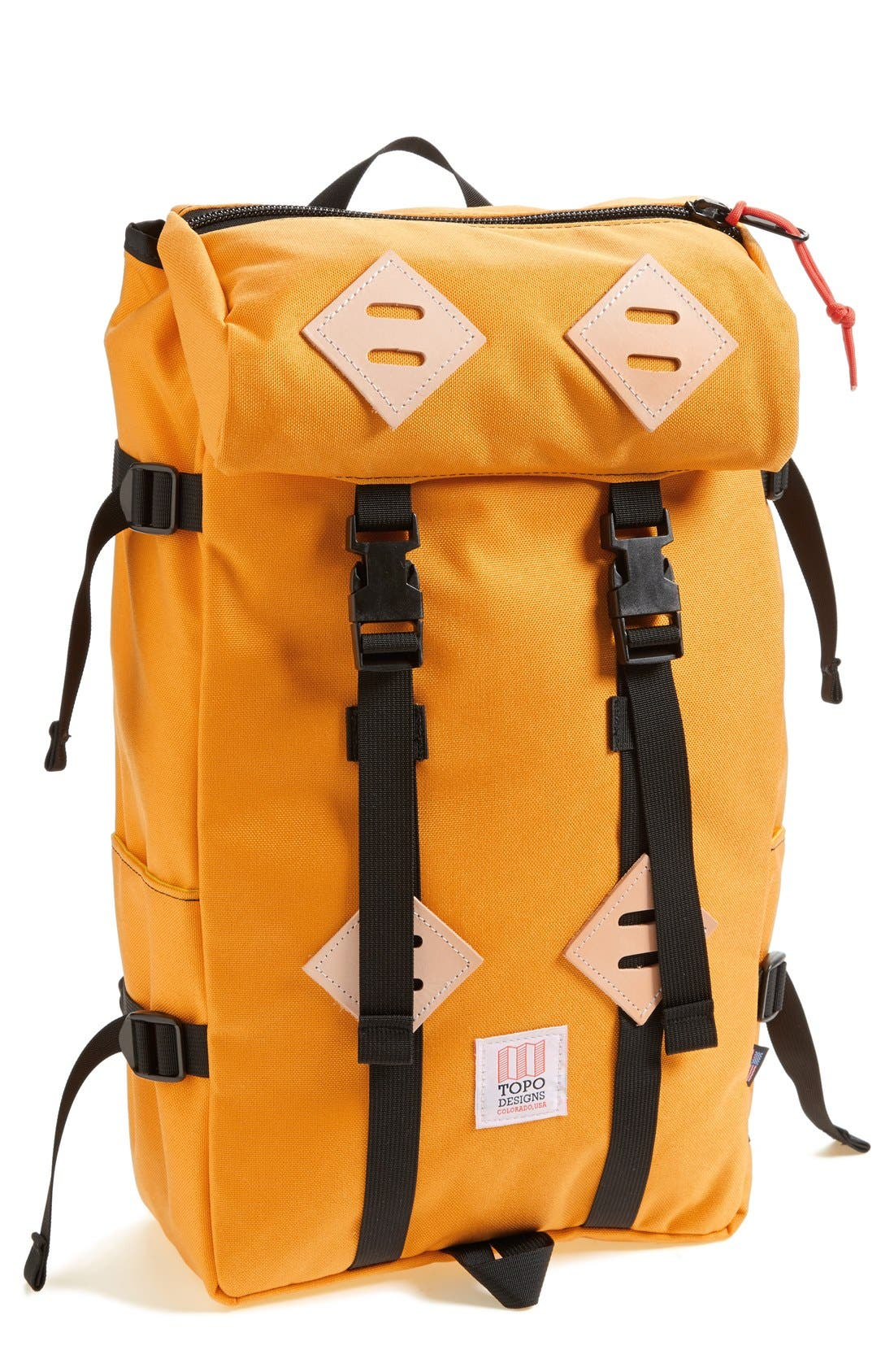 'Klettersack' Backpack,                             Main thumbnail 1, color,                             SAFFRON