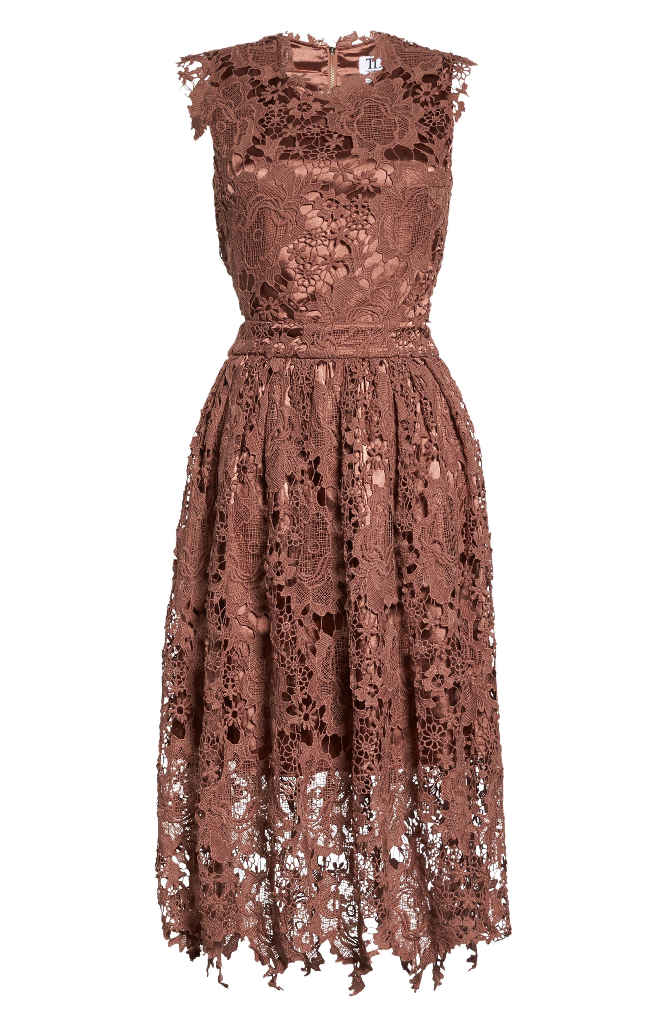 Lace Midi Dress,                             Alternate thumbnail 6, color,                             655