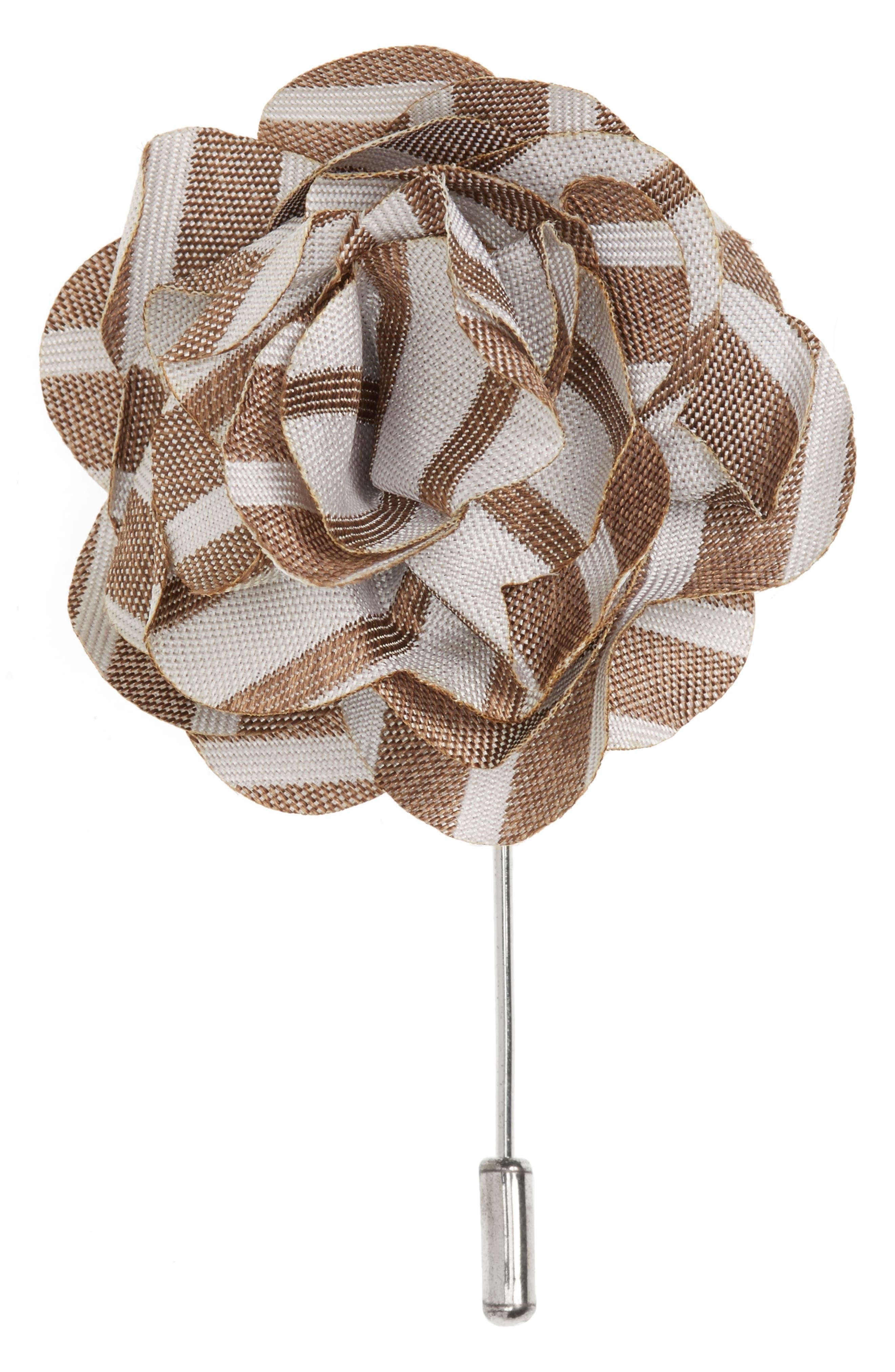 Unity Stripe Silk Lapel Flower,                             Main thumbnail 1, color,                             200