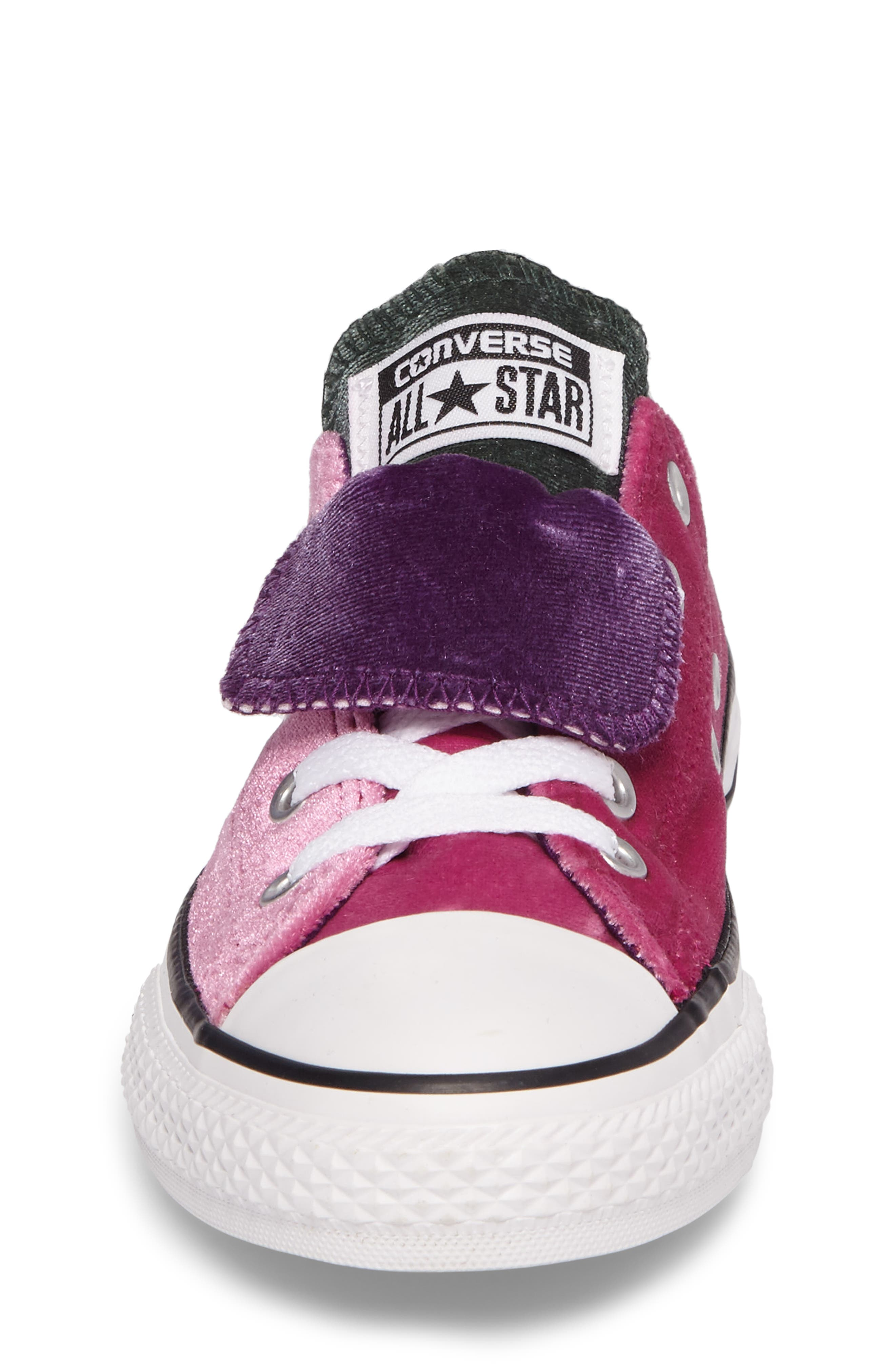 All Star<sup>®</sup> Velvet Double Tongue Sneaker,                             Alternate thumbnail 4, color,