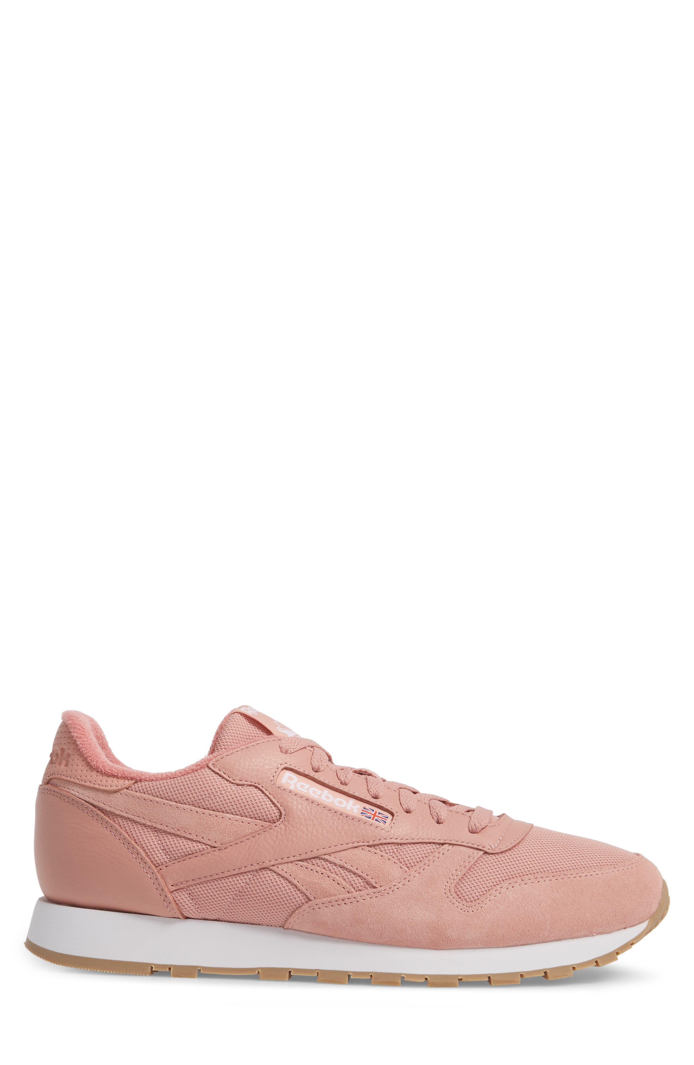 ESTL Classic Leather Sneaker,                             Alternate thumbnail 3, color,                             CHALK PINK/ WHITE