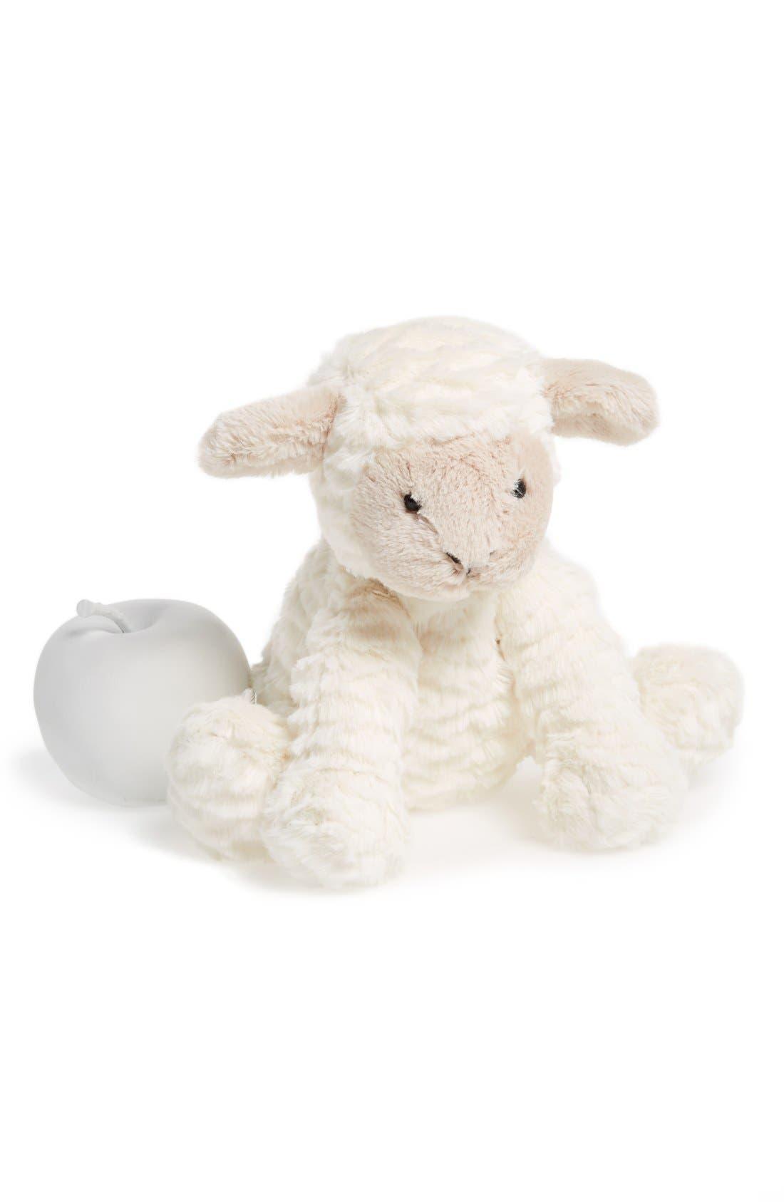 'Fuddlewuddle Lamb' Stuffed Animal,                             Alternate thumbnail 3, color,                             CREAM