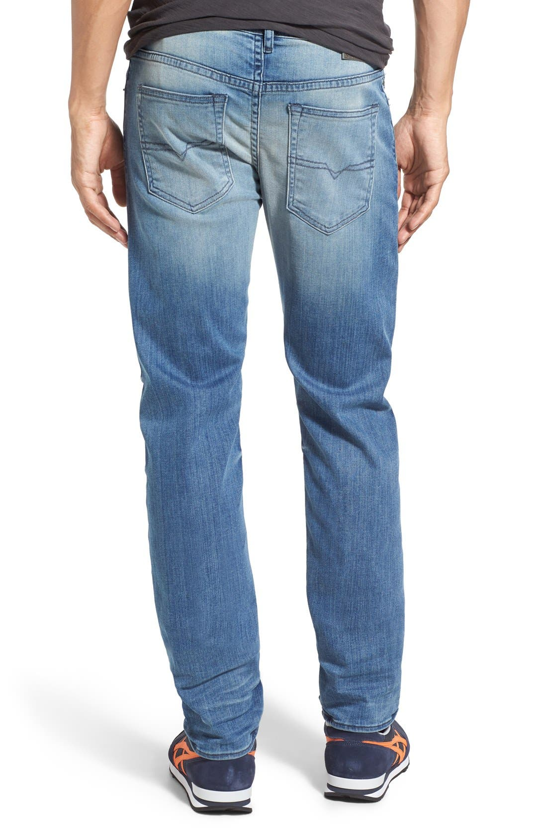 'Buster' Slim Straight Fit Jeans,                             Alternate thumbnail 10, color,                             400
