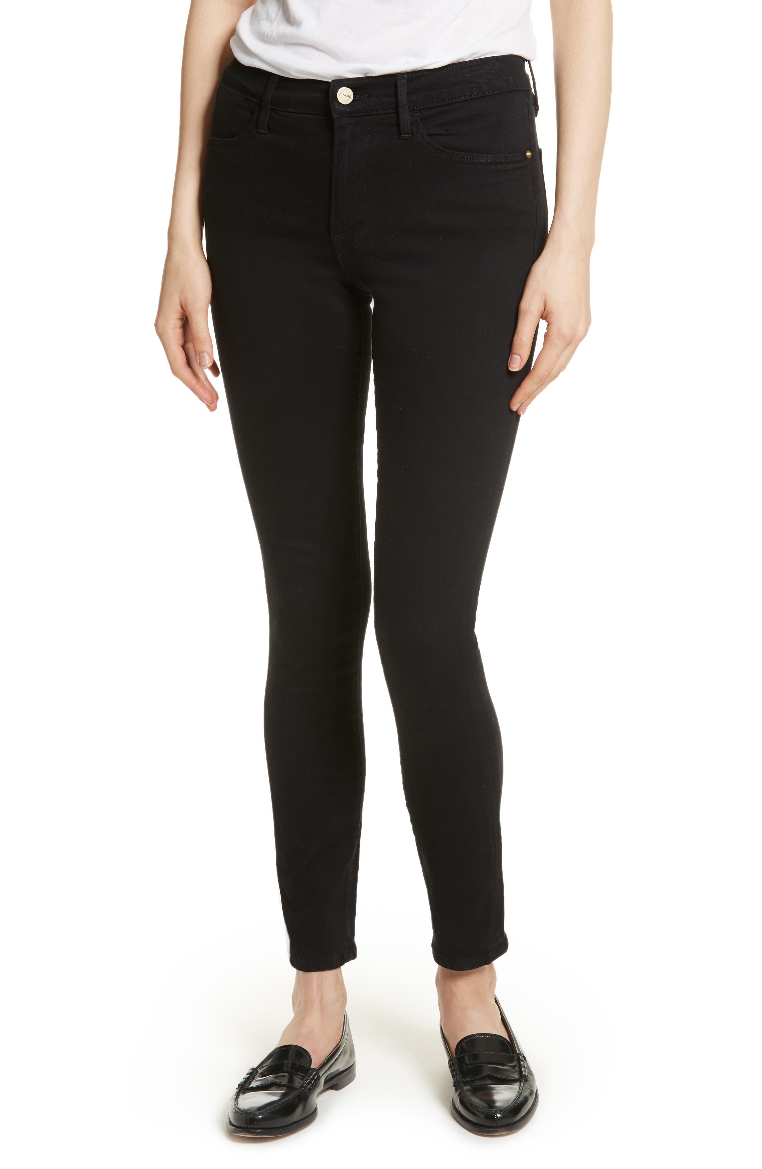 FRAME Le Color High Waist Skinny Jeans, Main, color, 001