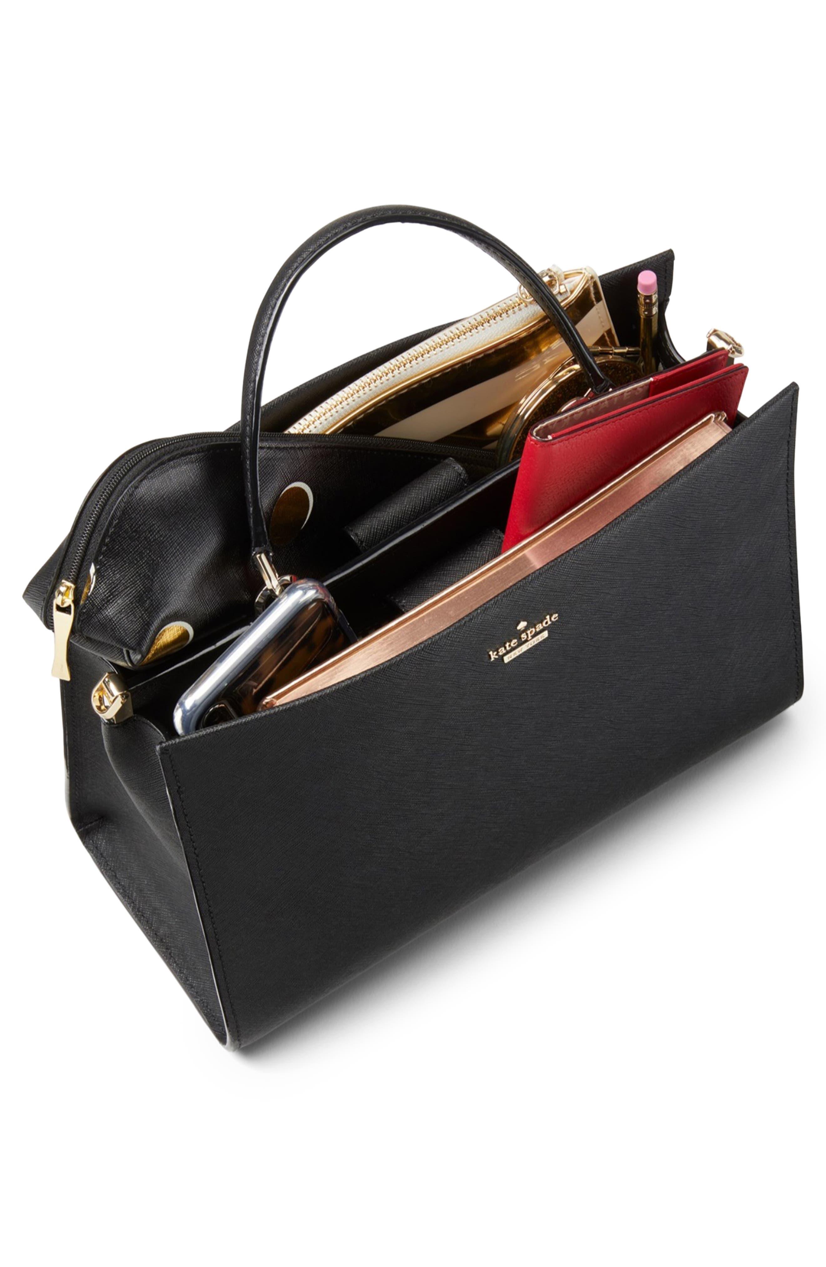 cameron street - sara leather satchel,                             Alternate thumbnail 4, color,                             BLAZER BLUE