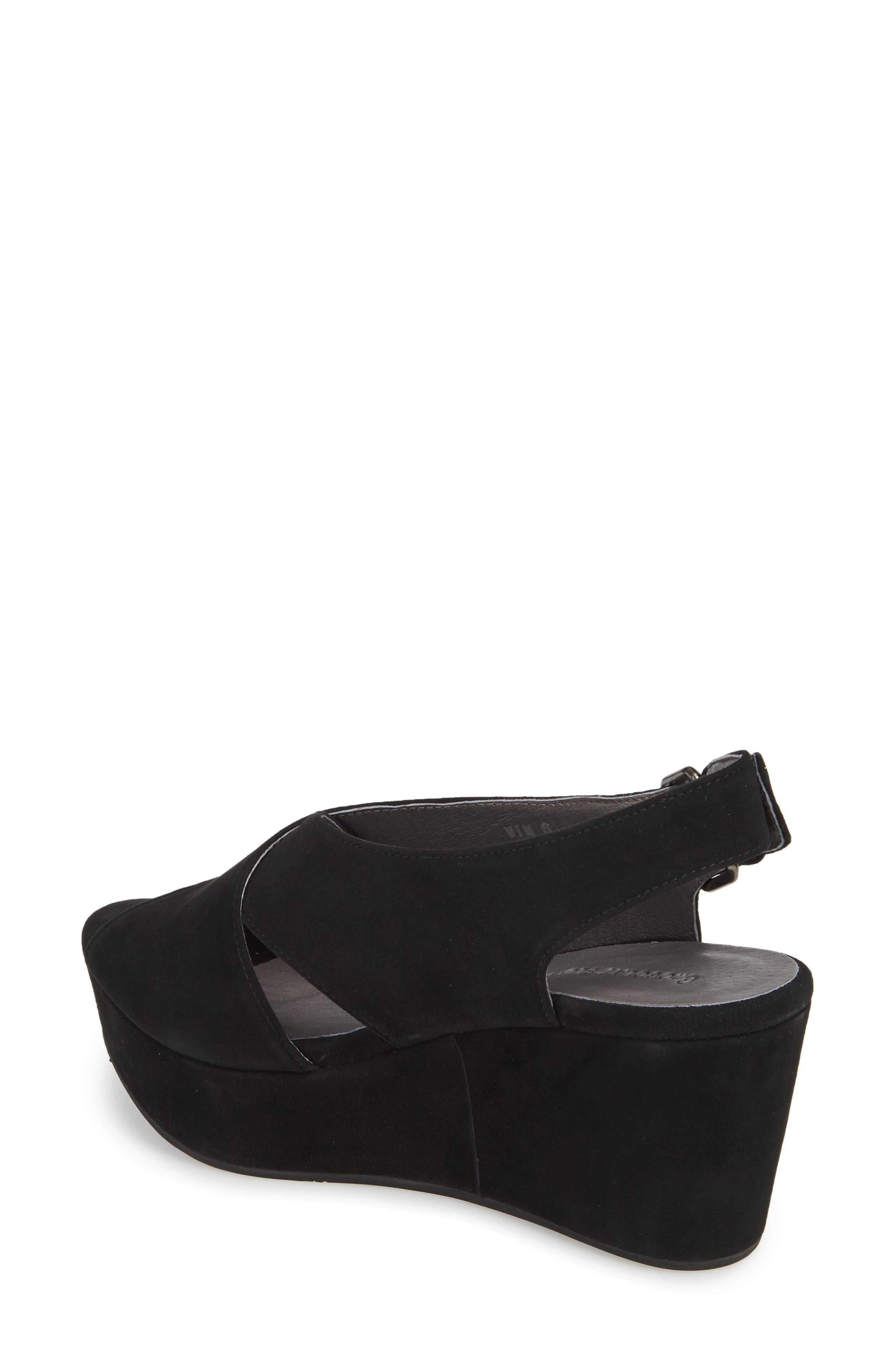 Wim Platform Wedge Sandal,                             Alternate thumbnail 2, color,                             BLACK SUEDE