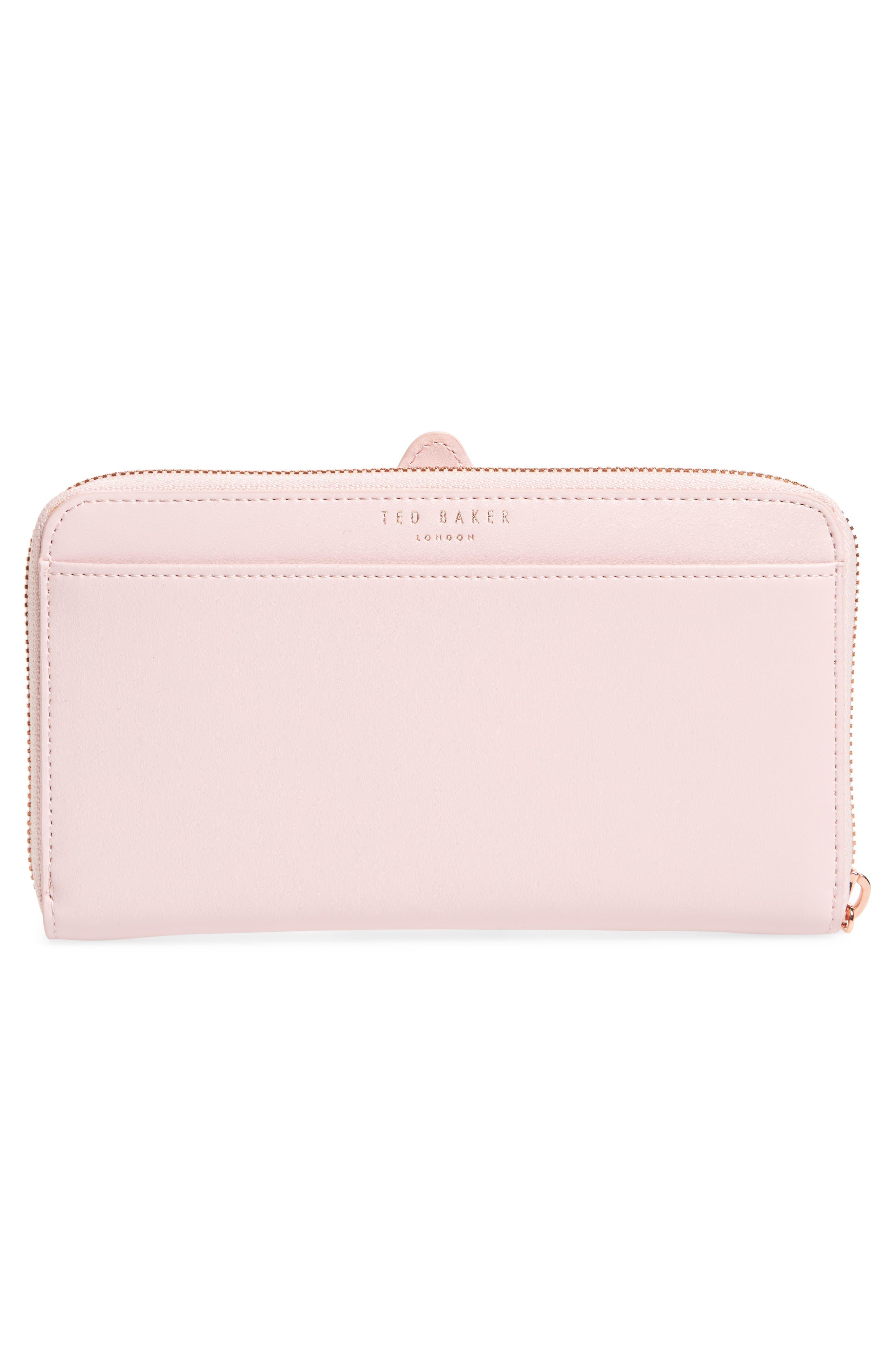 Carryn Matinée Leather Wallet,                             Alternate thumbnail 3, color,                             683
