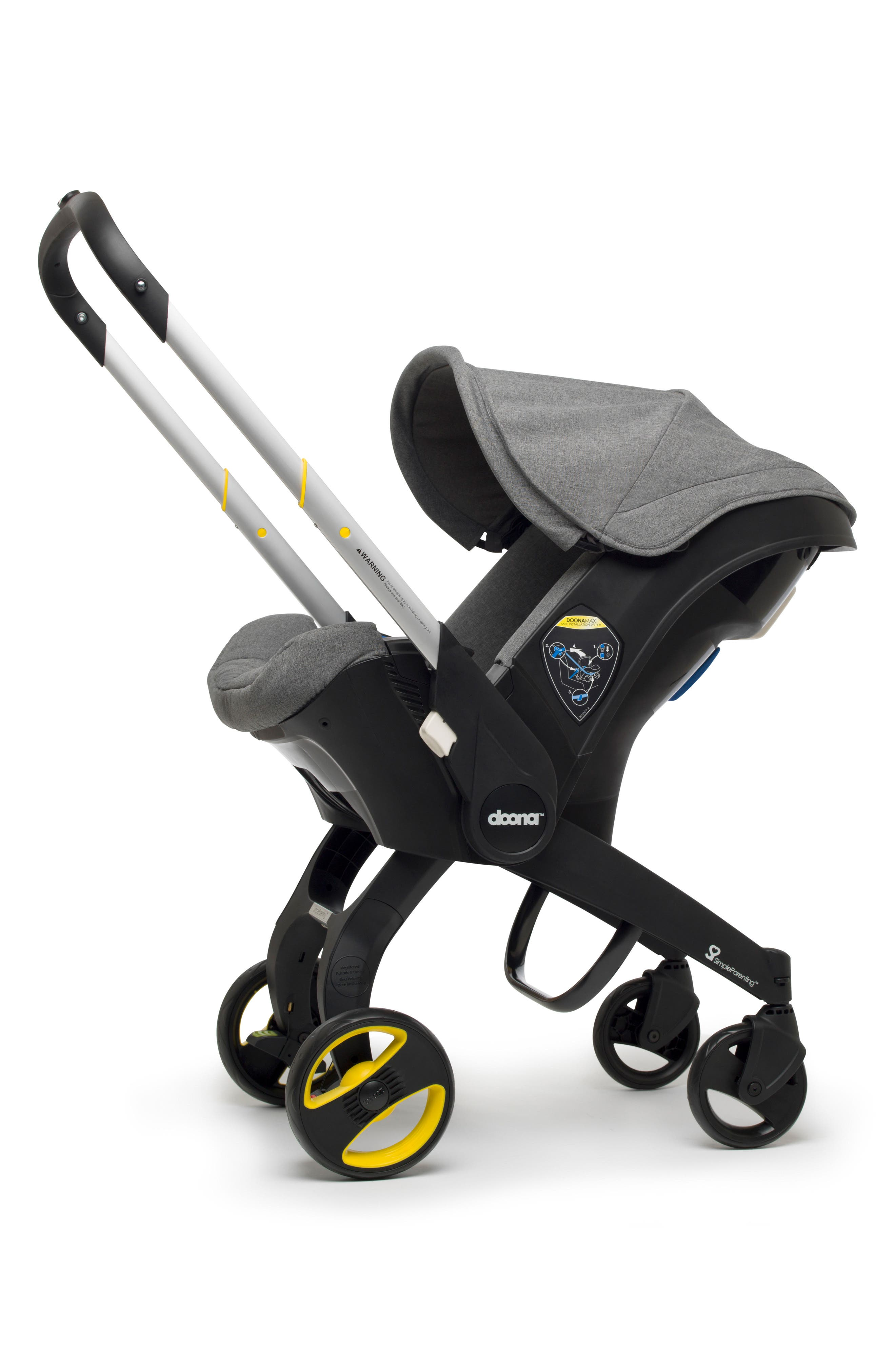 Convertible Infant Car Seat/Compact Stroller System,                             Alternate thumbnail 2, color,                             GREY/ STORM