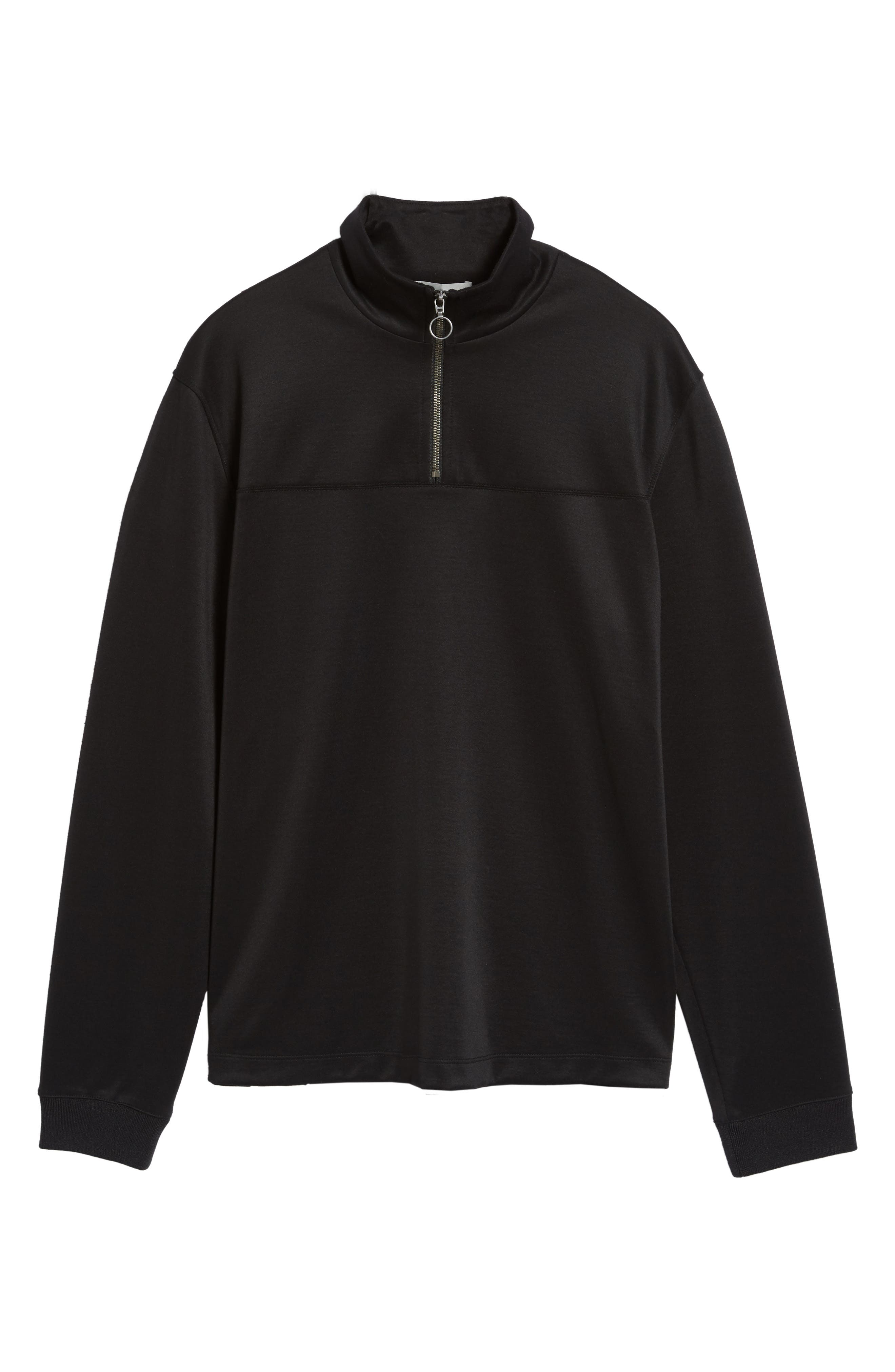 Quarter Zip Jacket,                             Alternate thumbnail 6, color,                             001