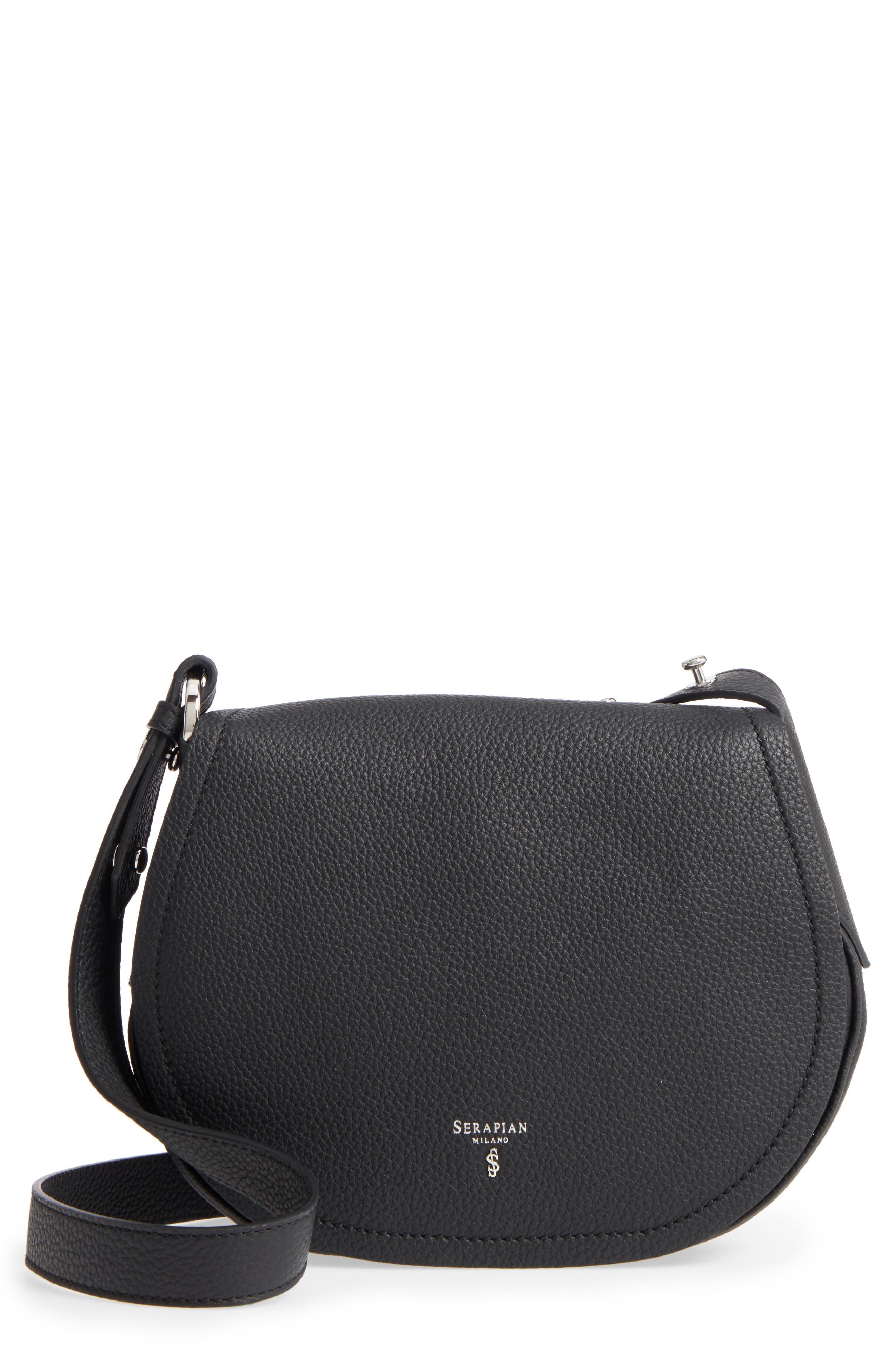 Mini Valeria Cachemire Leather Crossbody Bag,                             Main thumbnail 1, color,                             001