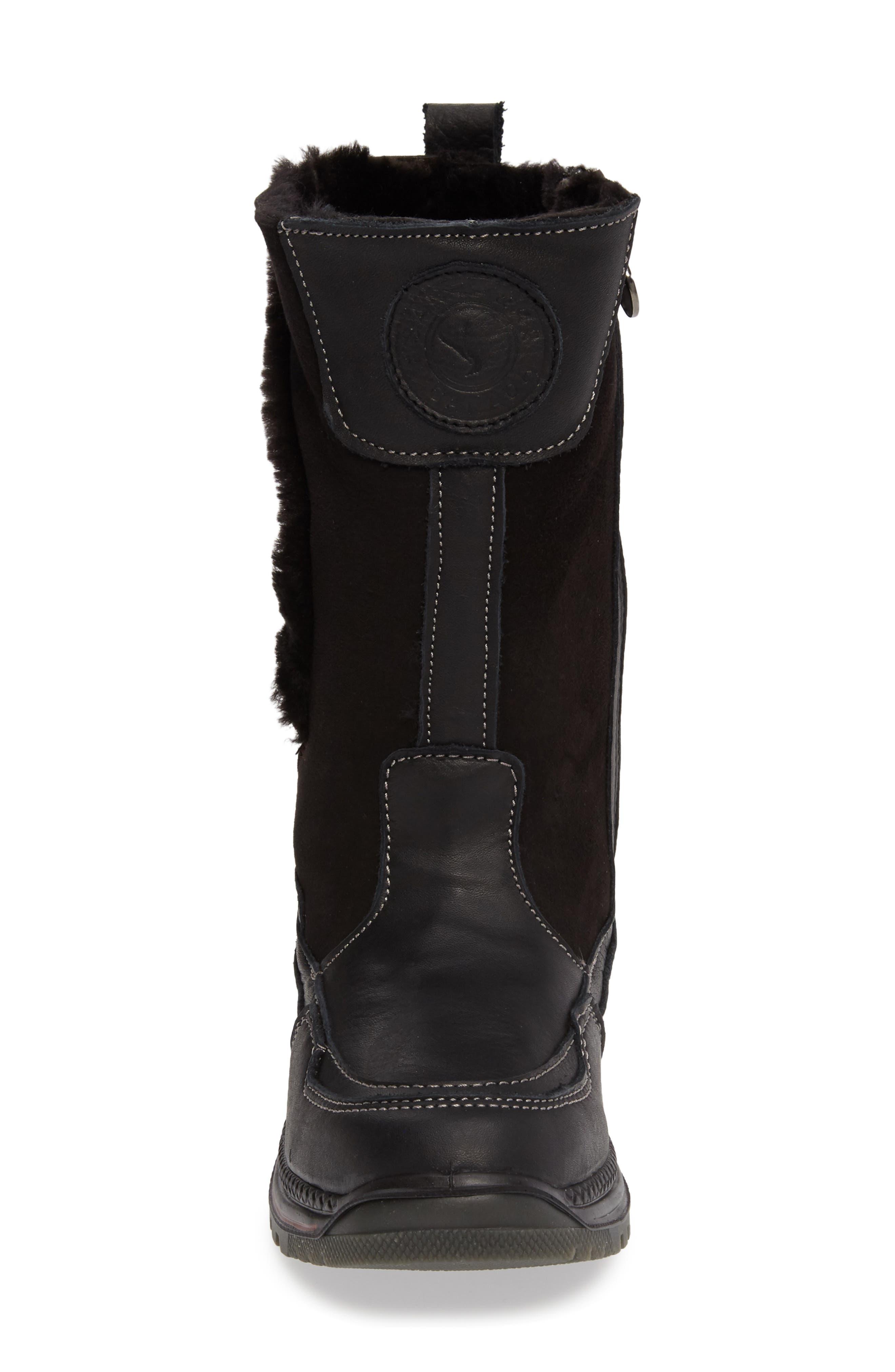 Seraphine Genuine Shearling Waterproof Winter Boot,                             Alternate thumbnail 4, color,                             001
