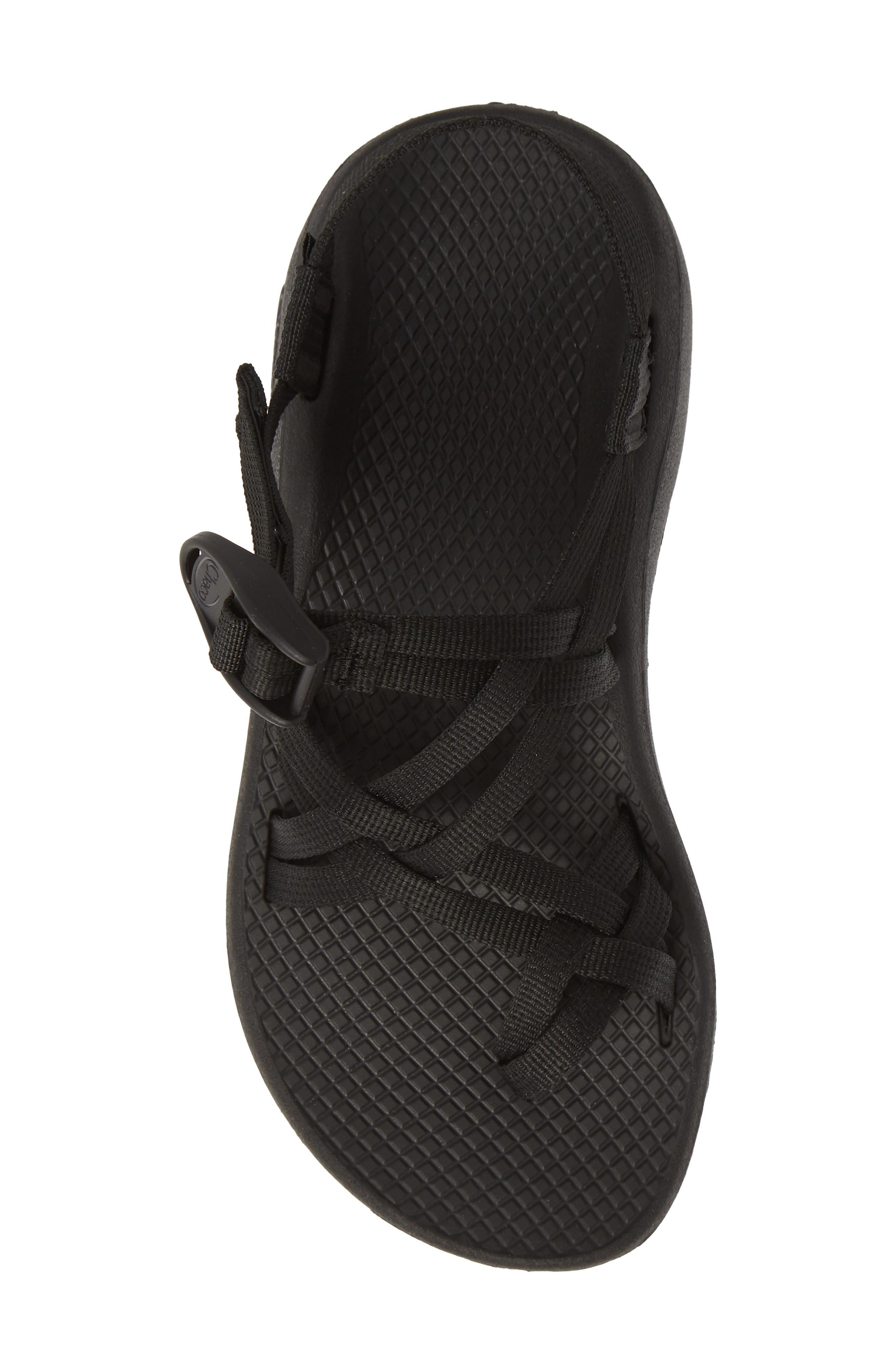 CHACO,                             Z/Cloud X2 Sandal,                             Alternate thumbnail 5, color,                             SOLID BLACK FABRIC