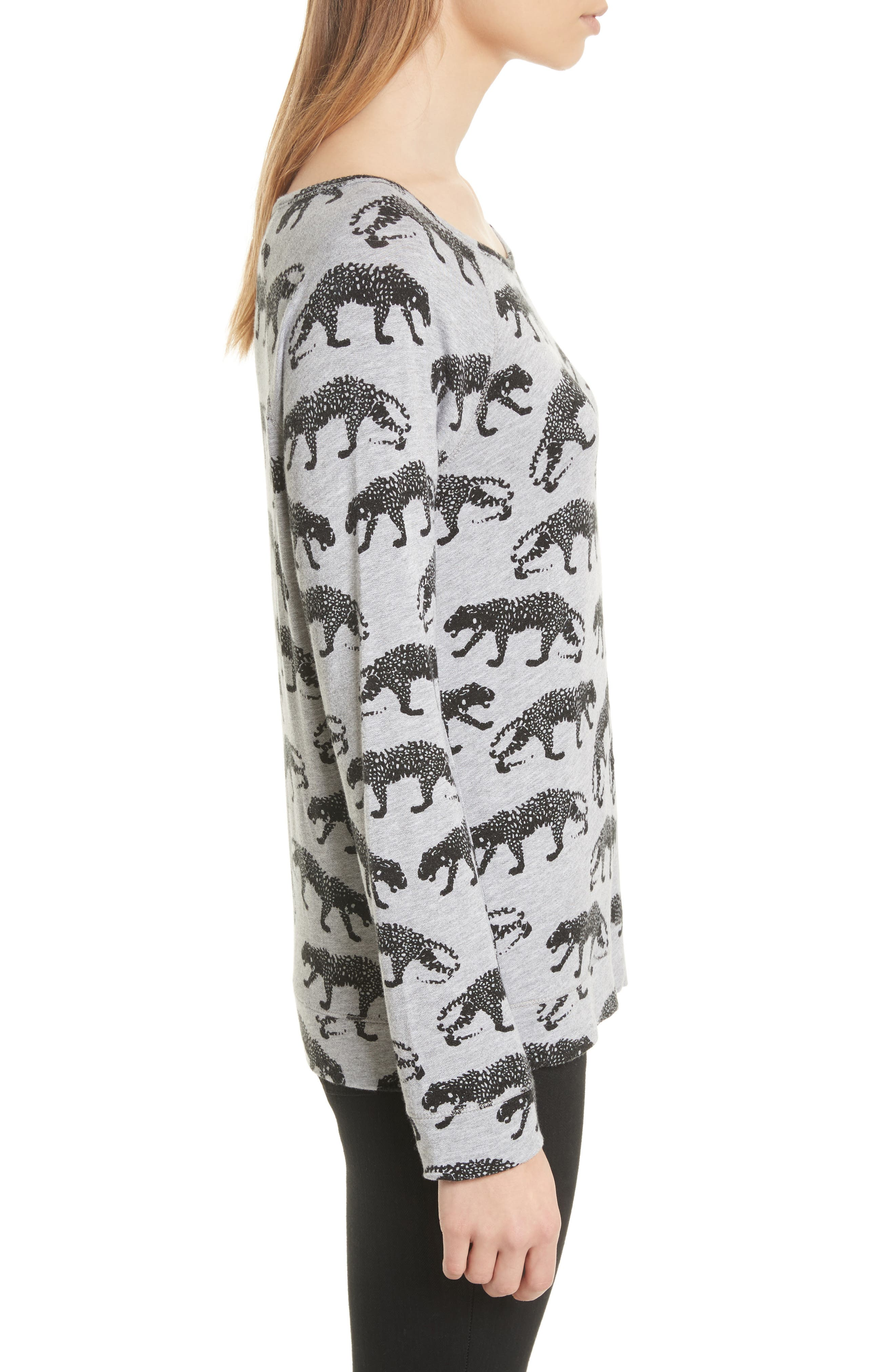 Annora B Animal Print Sweatshirt,                             Alternate thumbnail 3, color,                             033