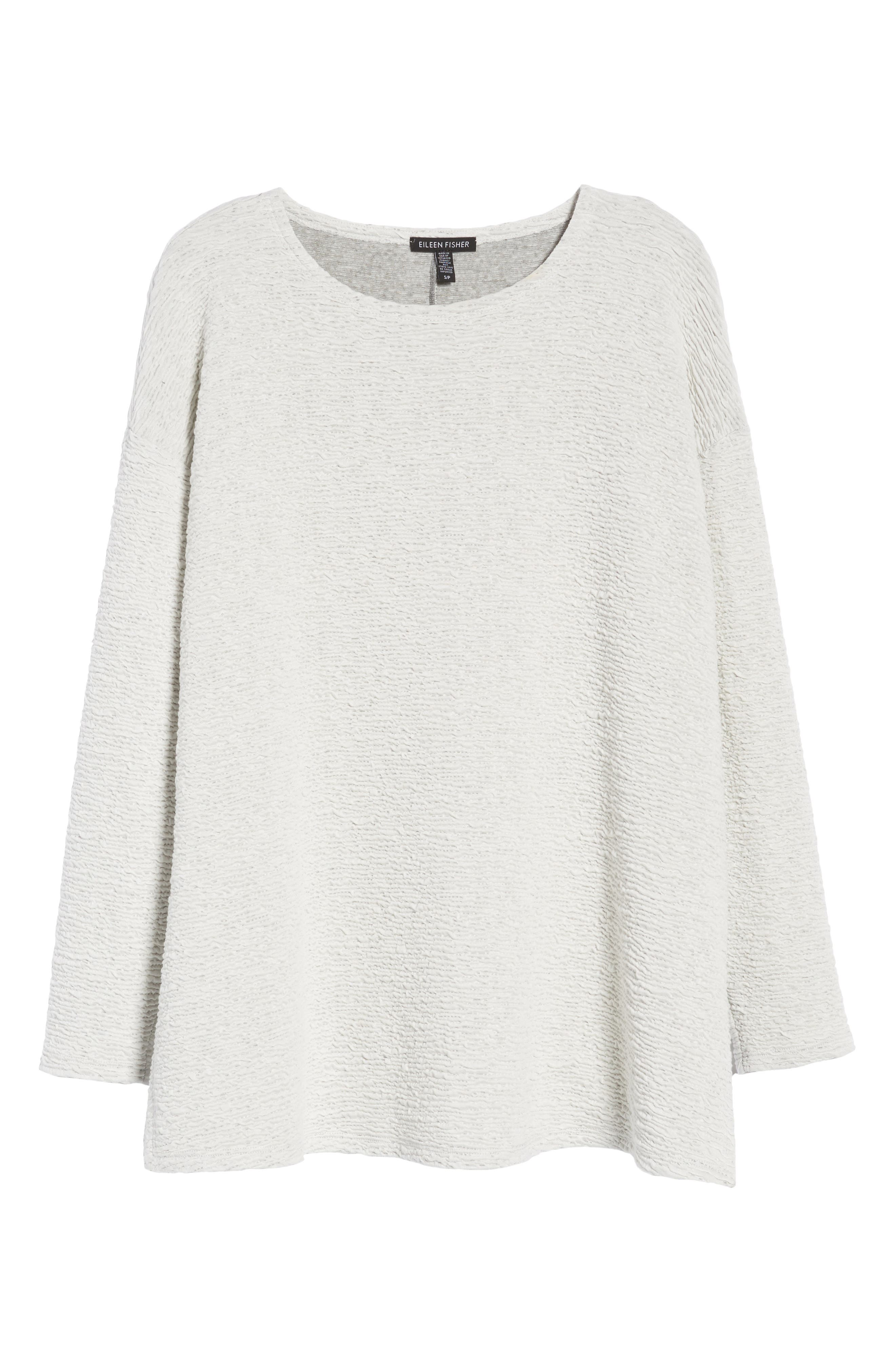 Textured Tencel<sup>®</sup> Lyocell Blend Top,                             Alternate thumbnail 7, color,                             100