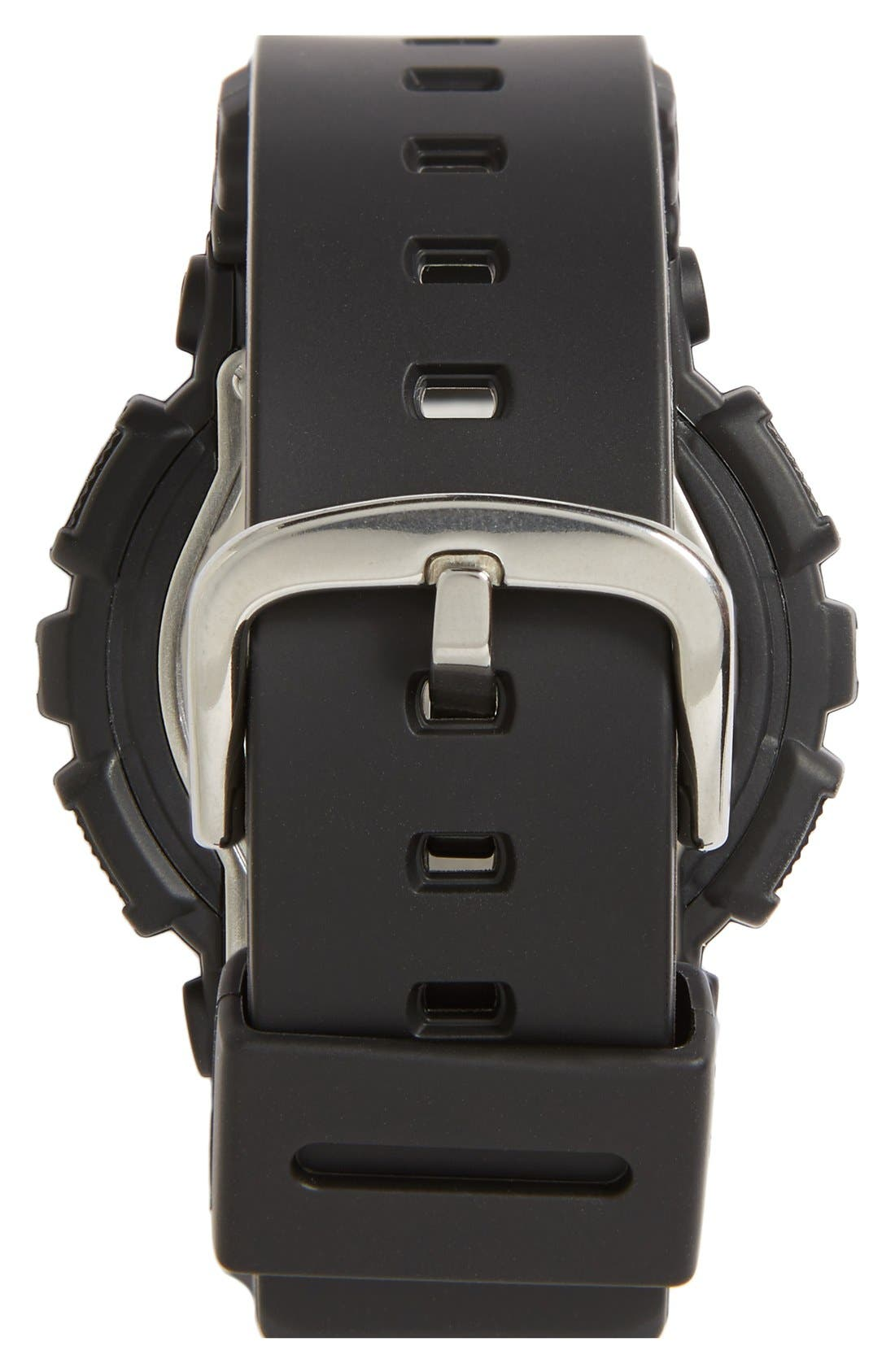 Baby-G Ana-Digi Watch, 46mm x 43mm,                             Alternate thumbnail 3, color,                             BLACK