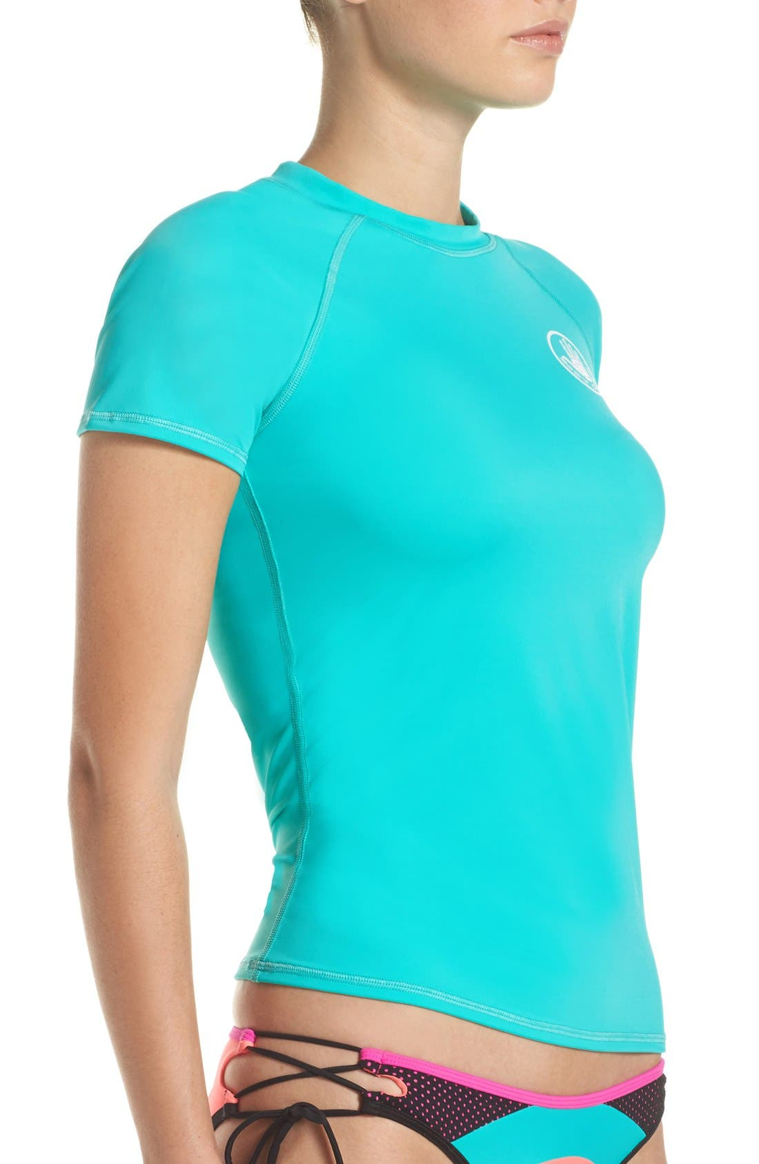 'Smoothies in Motion' Short Sleeve Rashguard,                             Alternate thumbnail 36, color,