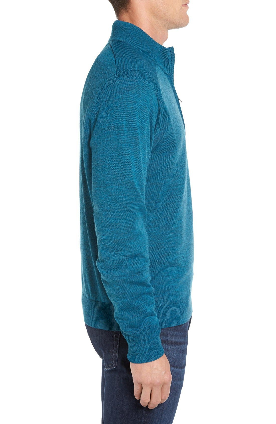 Douglas Quarter Zip Wool Blend Sweater,                             Alternate thumbnail 16, color,