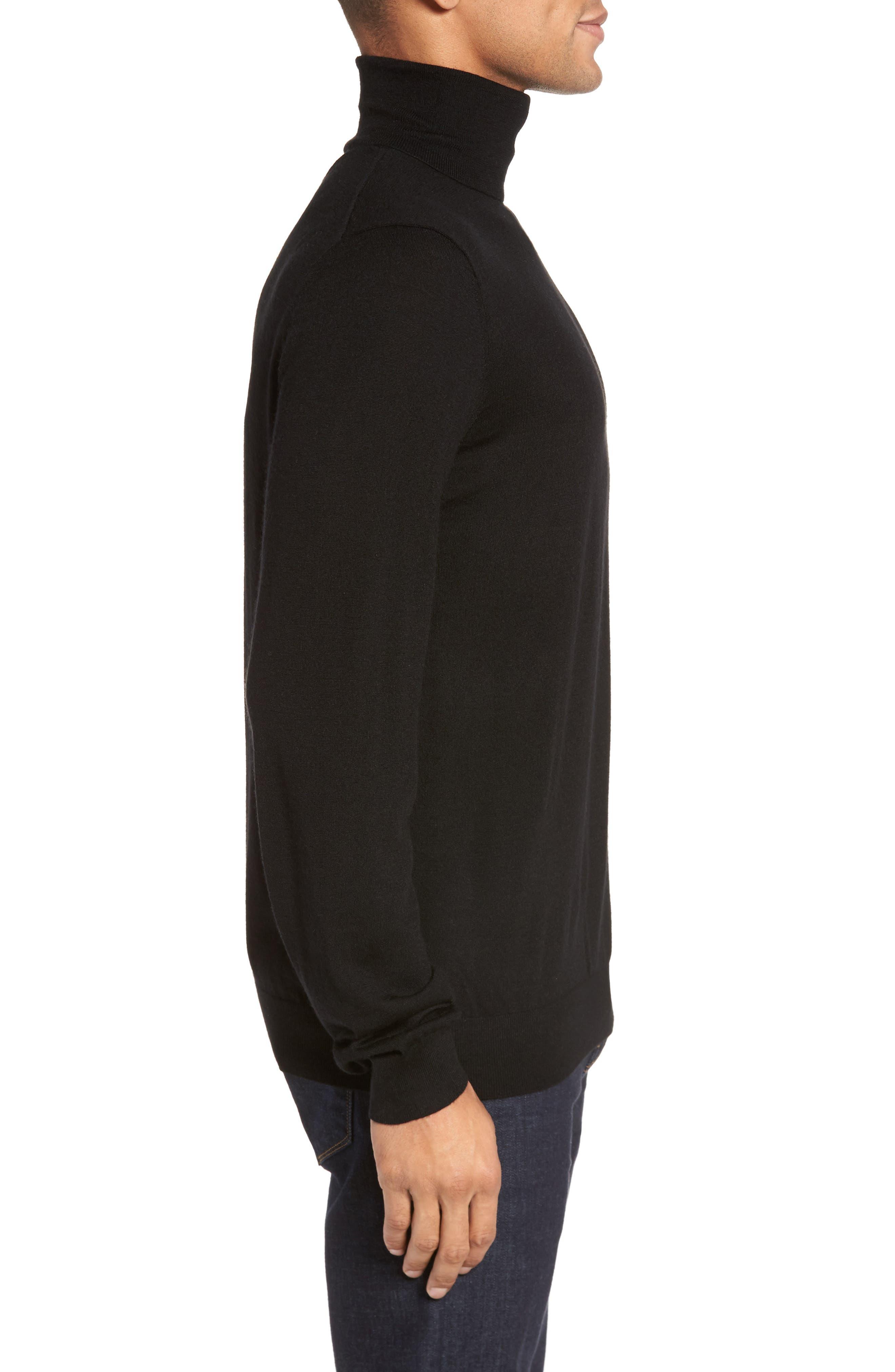 Turtleneck Sweater,                             Alternate thumbnail 3, color,                             001