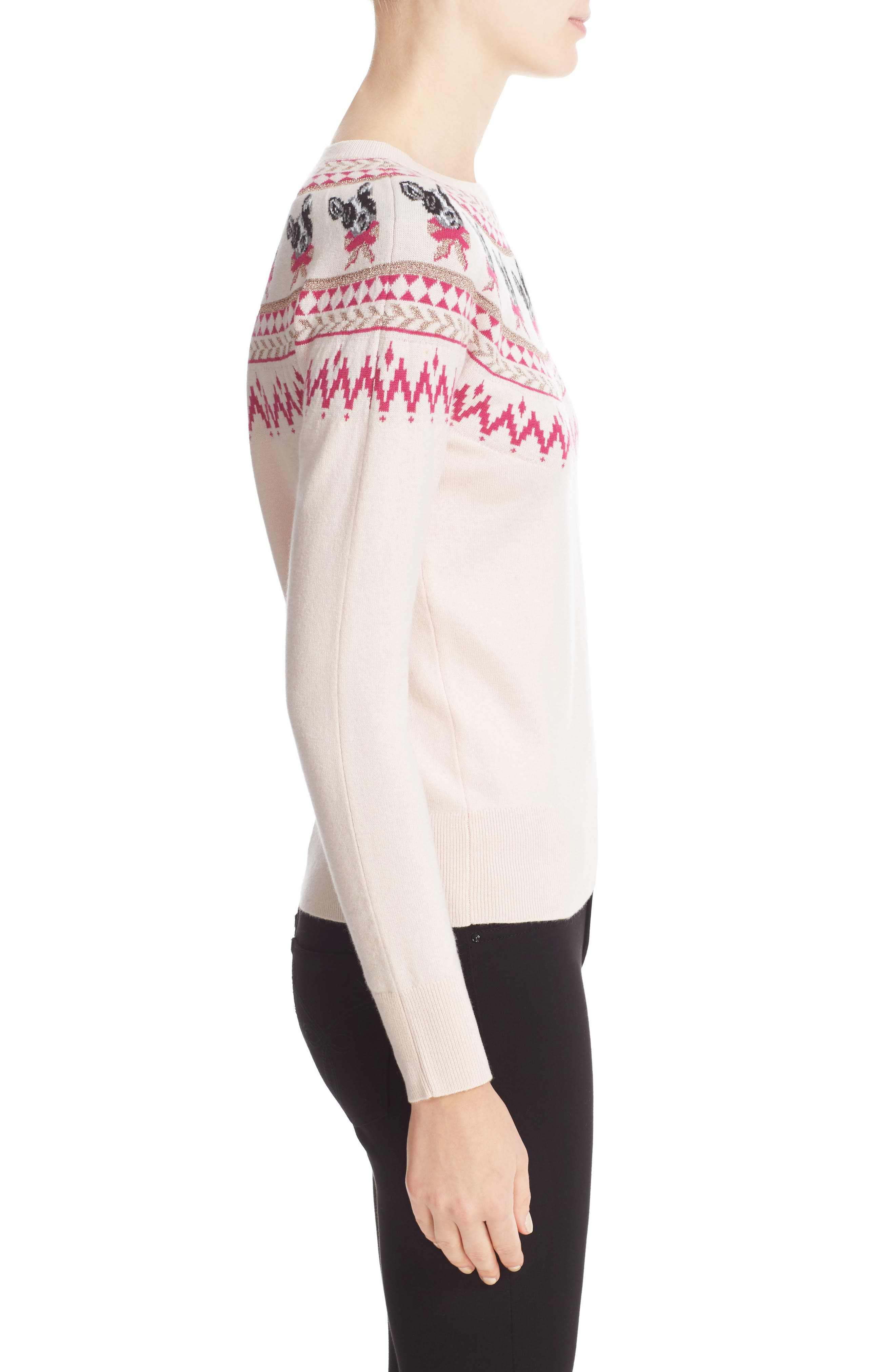 TED BAKER LONDON,                             Merry Woofmas Fair Isle Pullover,                             Alternate thumbnail 3, color,                             272