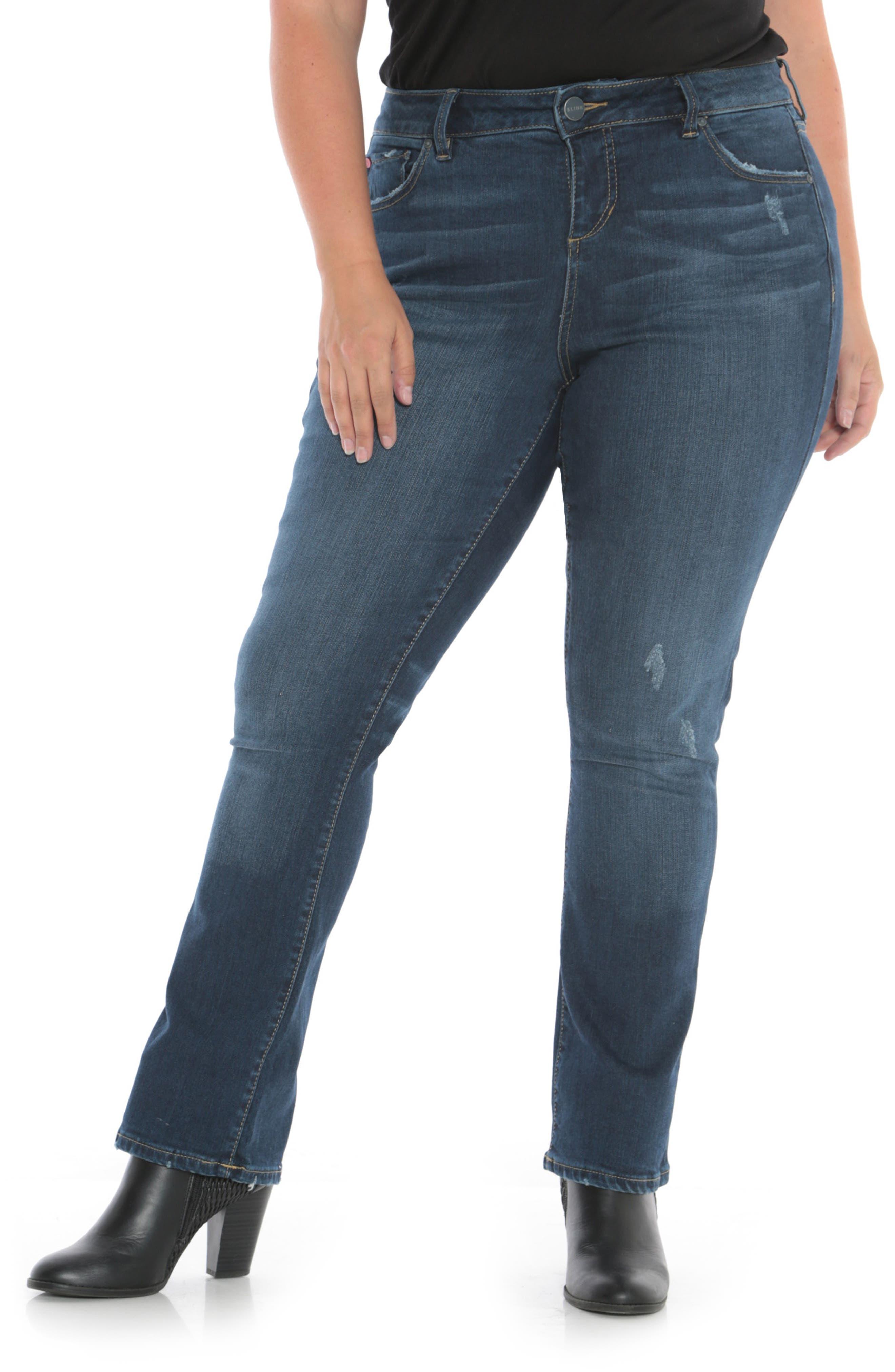 High Waist Crop Bootcut Jeans, Main, color, SHEELA