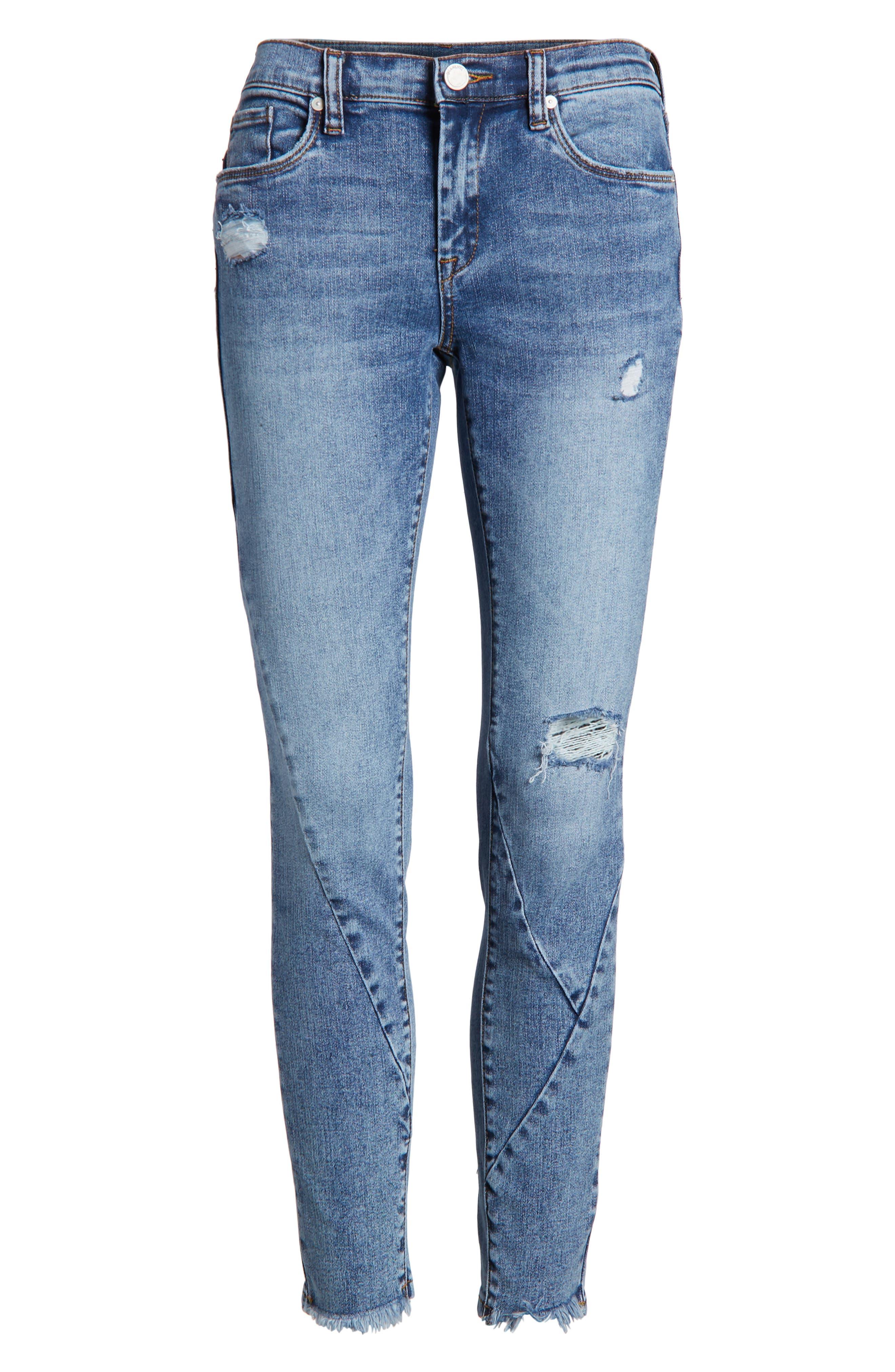 The Reade Seam Detail Skinny Jeans,                             Alternate thumbnail 7, color,                             400