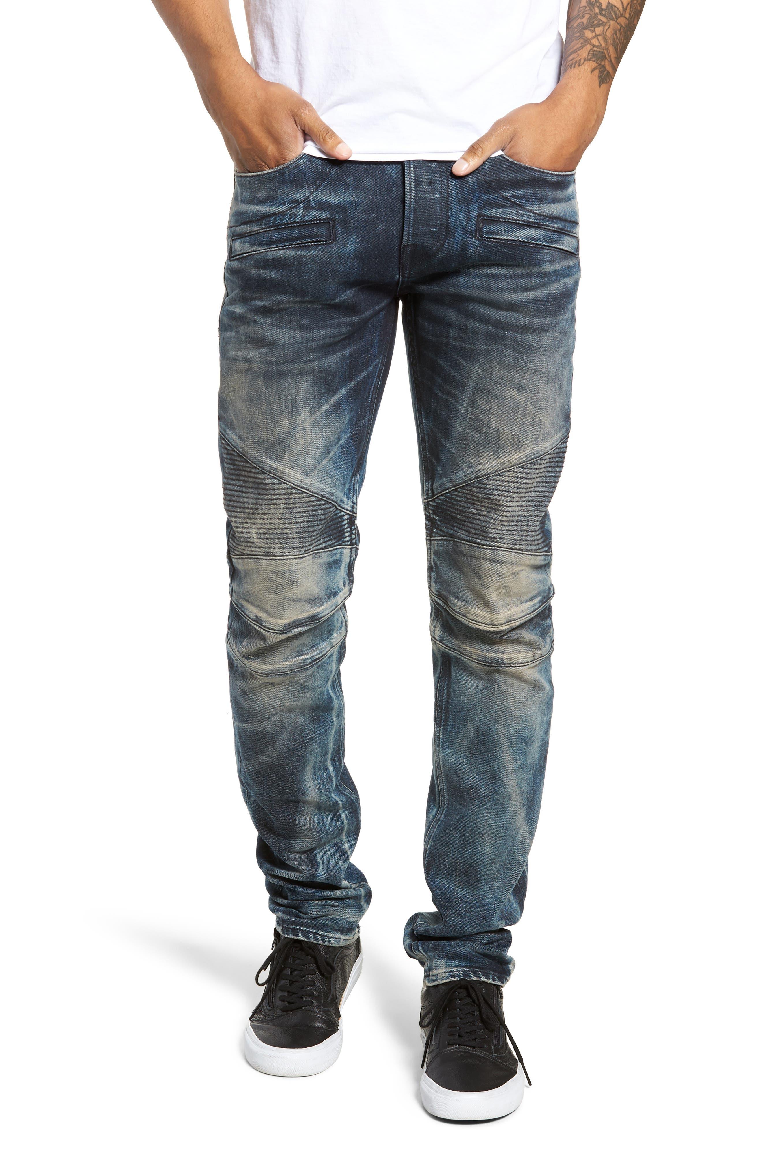 Blinder Biker Skinny Fit Jeans, Main, color, MARTINO