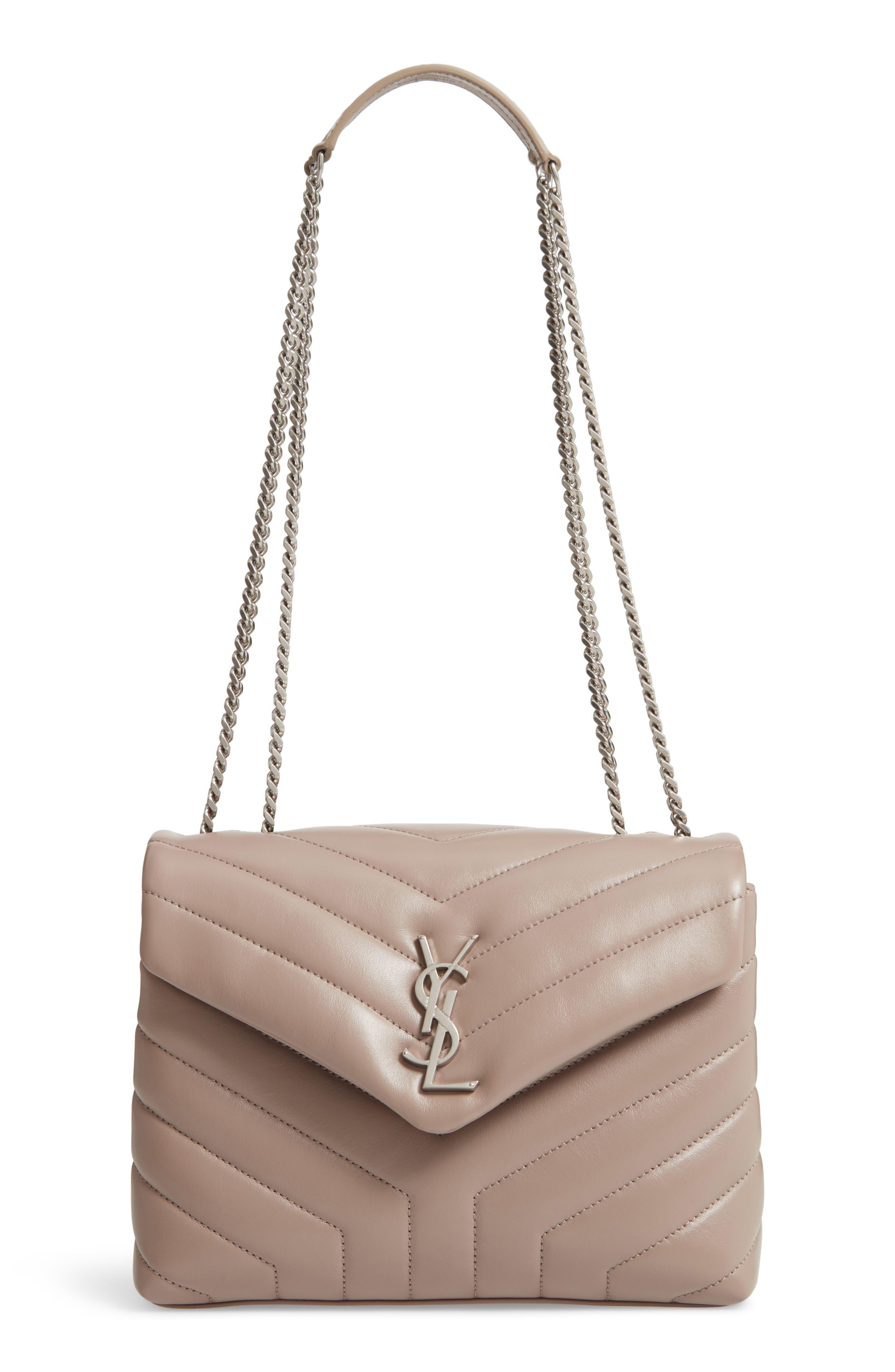 Small Loulou Matelassé Leather Shoulder Bag,                         Main,                         color, TAUPE SABLE