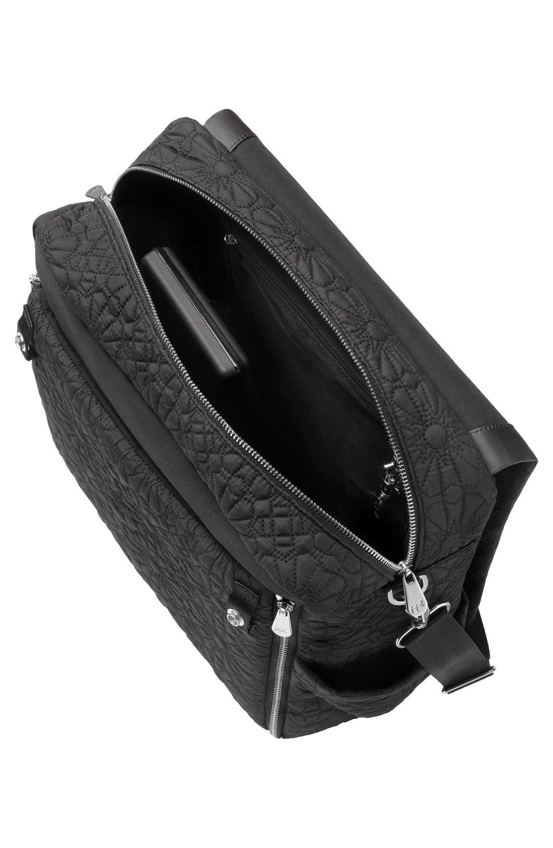 'Embossed Boxy' Backpack Diaper Bag,                             Alternate thumbnail 6, color,                             002
