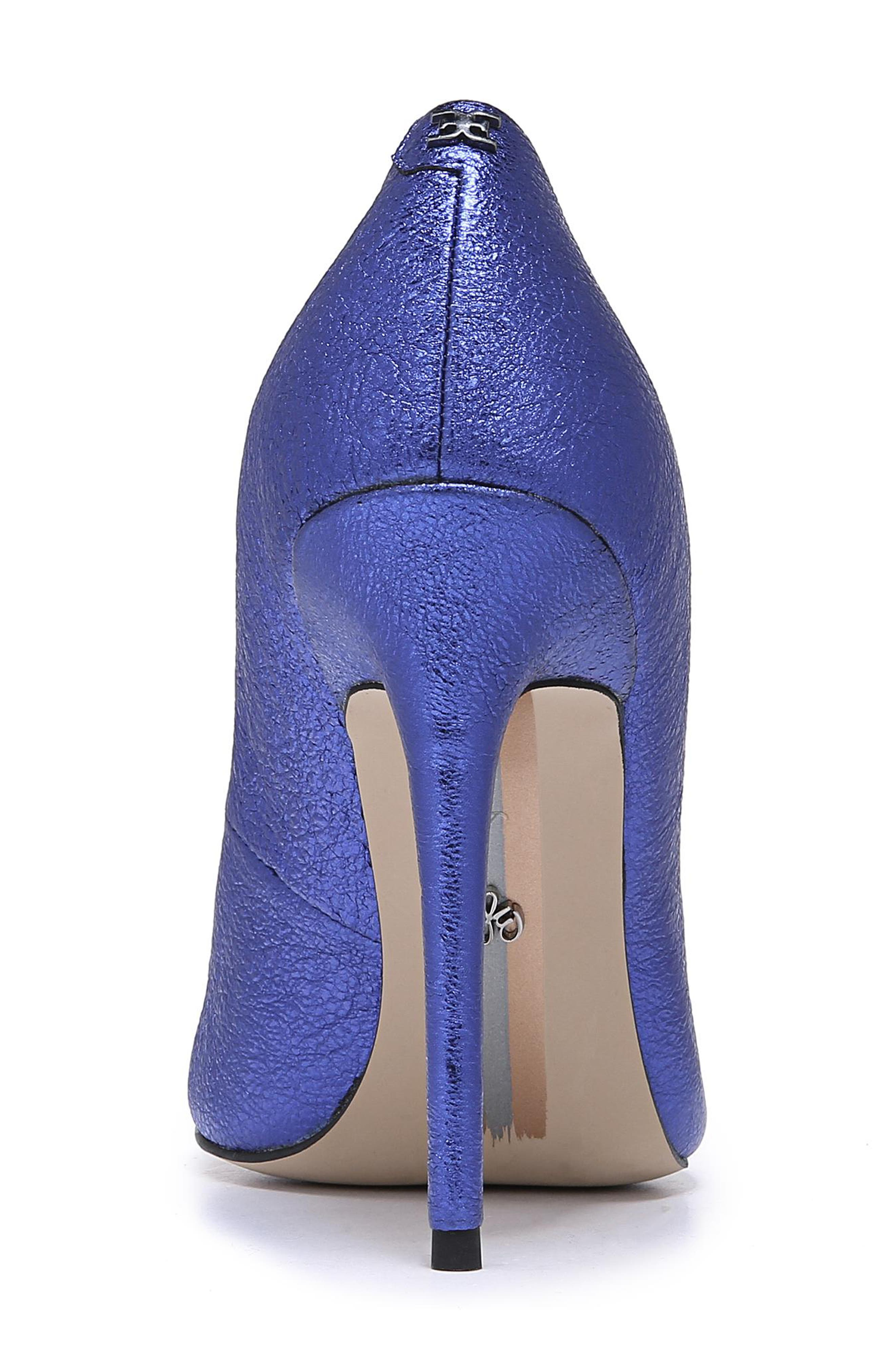 Danna Pointy Toe Pump,                             Alternate thumbnail 7, color,                             ROYAL BLUE LEATHER