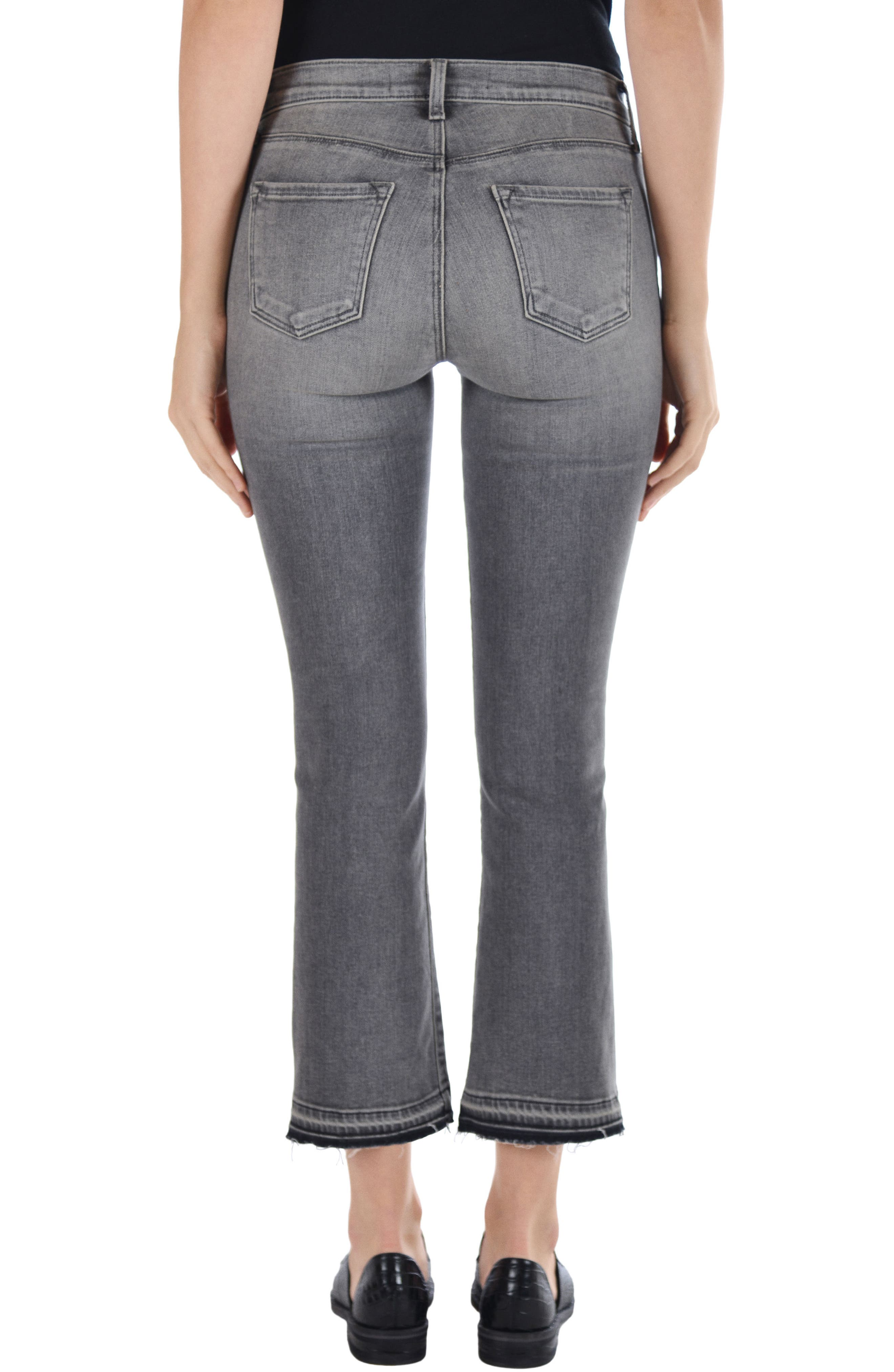 Selena Crop Bootcut Jeans,                             Alternate thumbnail 2, color,                             030
