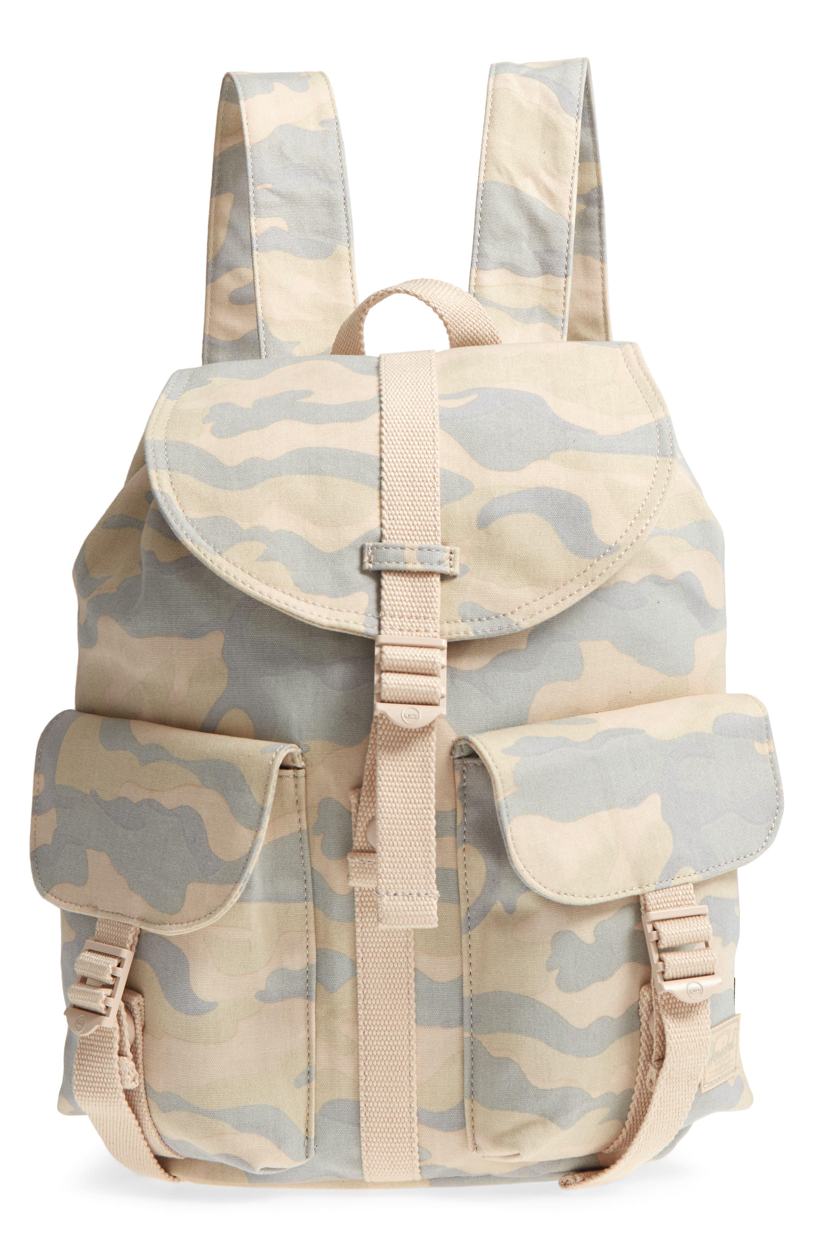 X-Small Dawson Camo Canvas Backpack,                         Main,                         color, 900