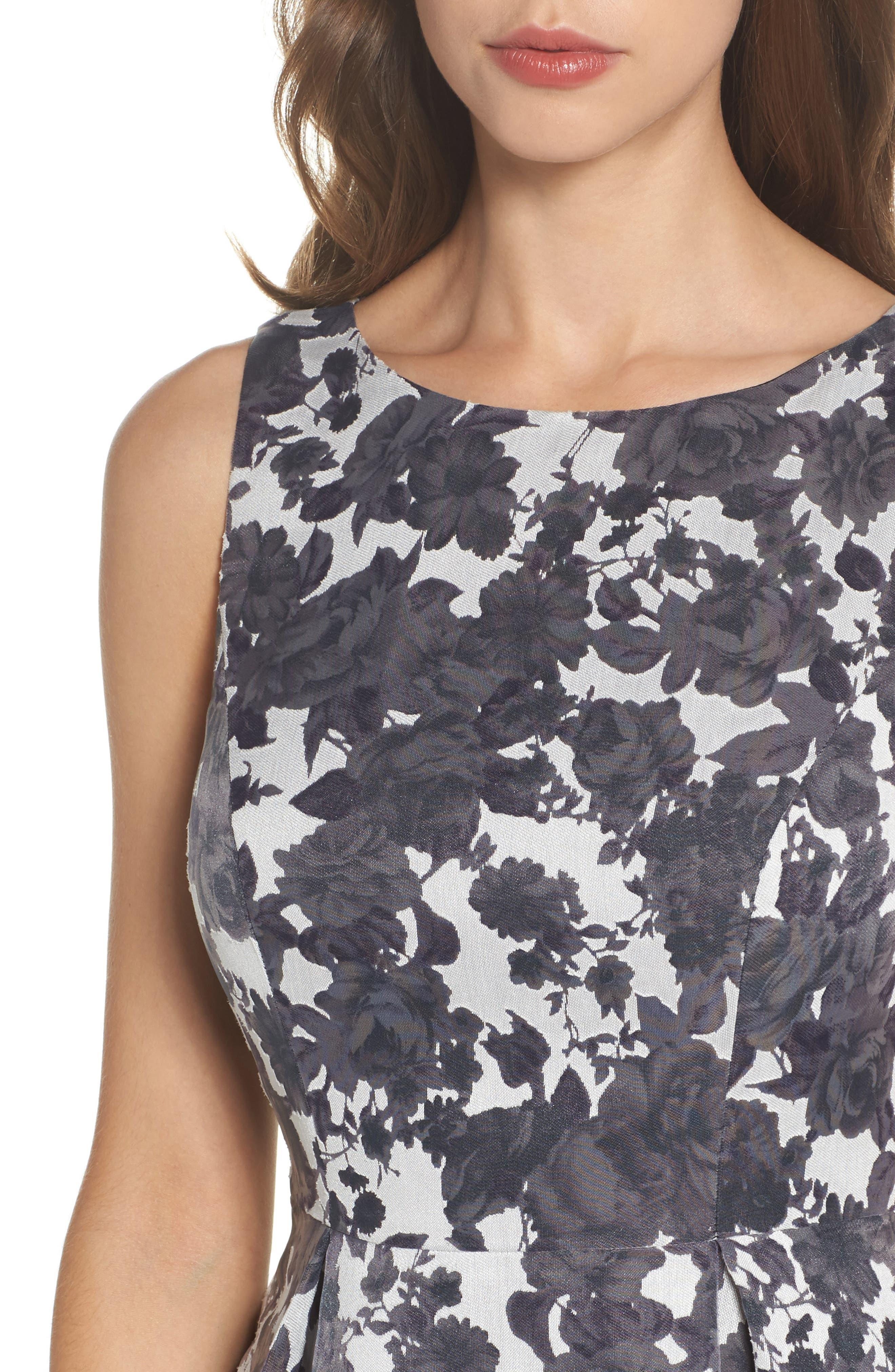 Alyssa Fit & Flare Dress,                             Alternate thumbnail 4, color,                             500