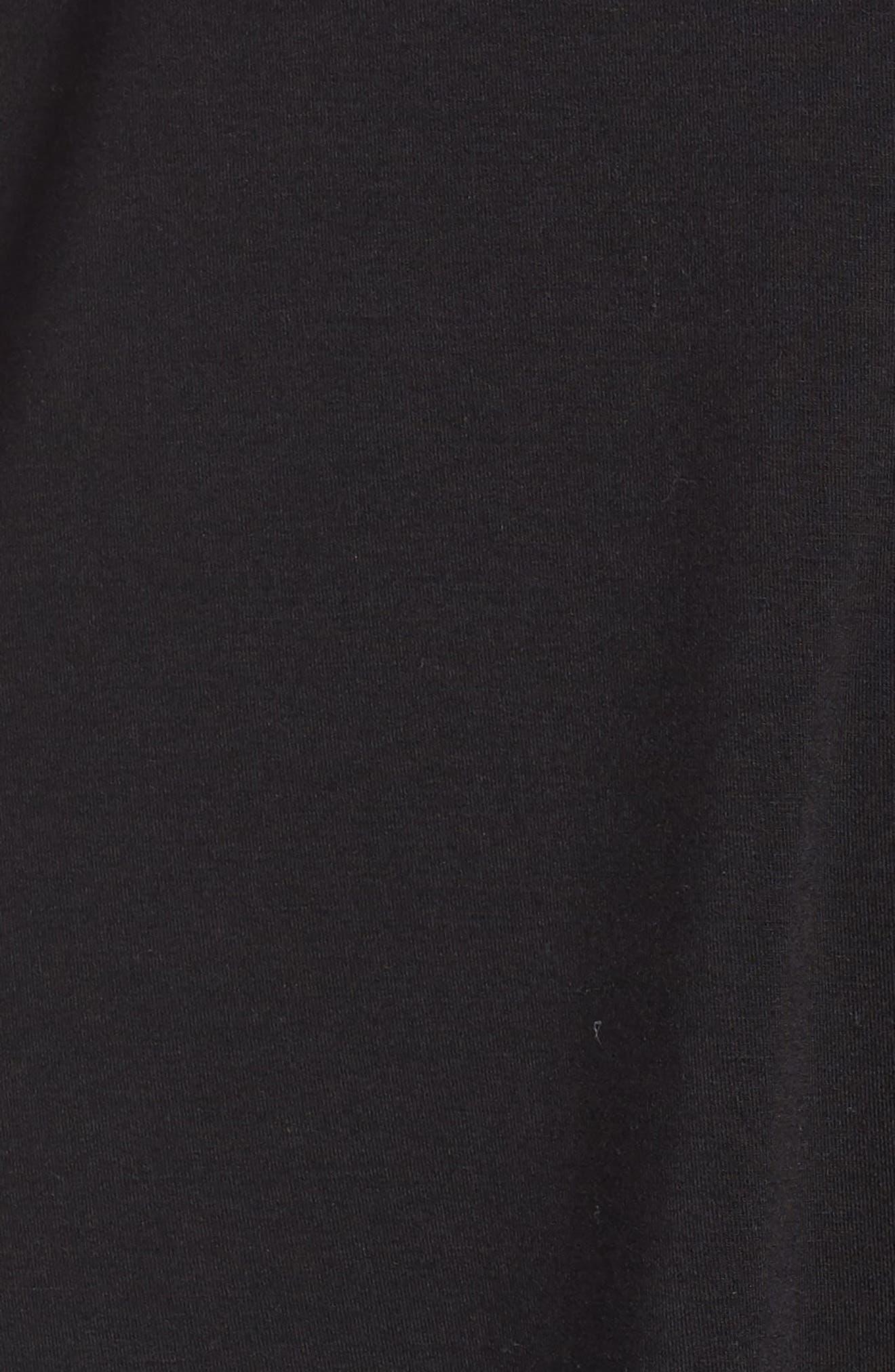 Breathe Modal Jersey Sleep Shirt,                             Alternate thumbnail 5, color,                             001
