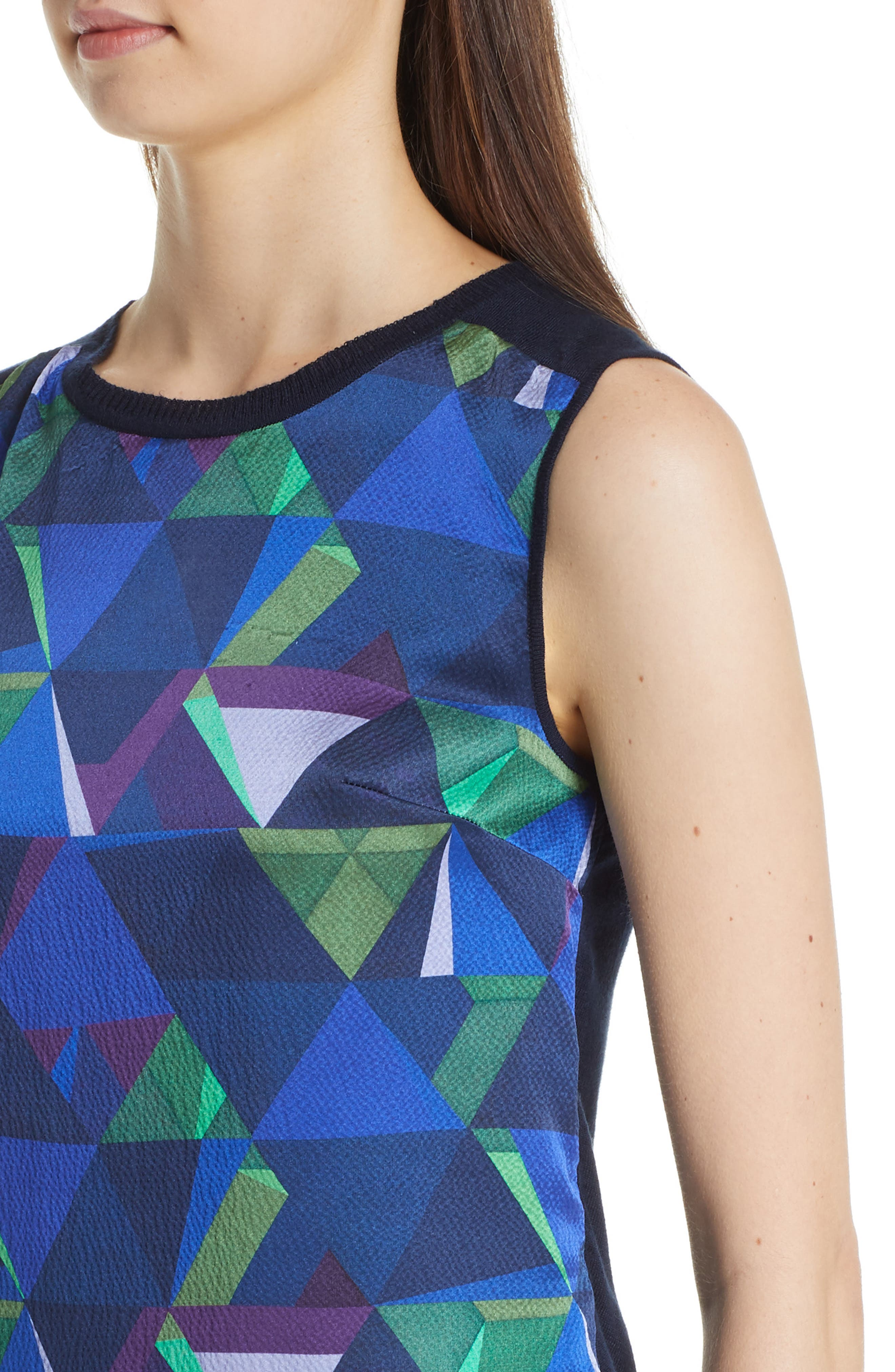 Jersey & Silk Shell,                             Alternate thumbnail 4, color,                             NAVY MULTI