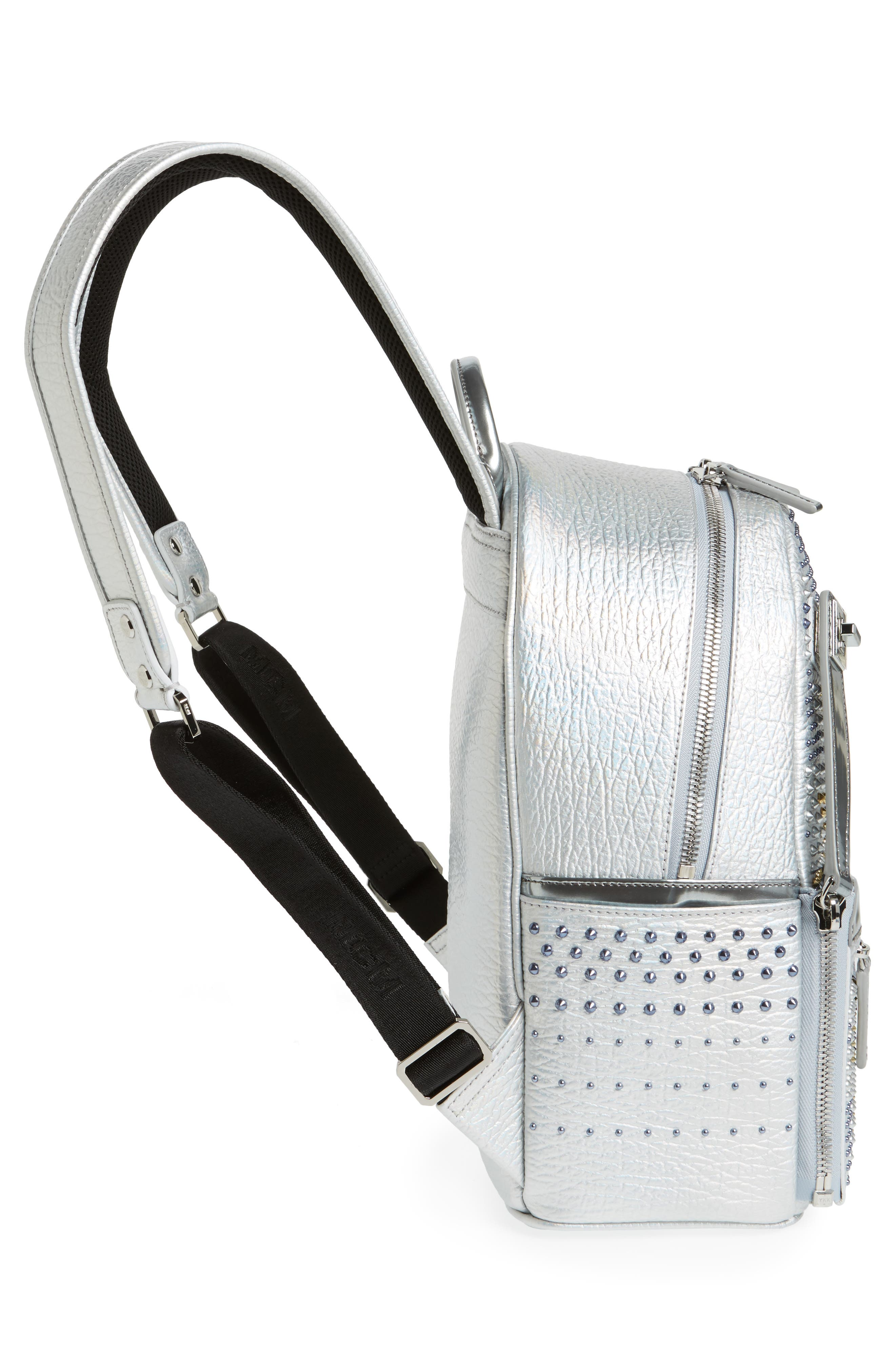 Dual Stark Studded Leather Backpack,                             Alternate thumbnail 10, color,