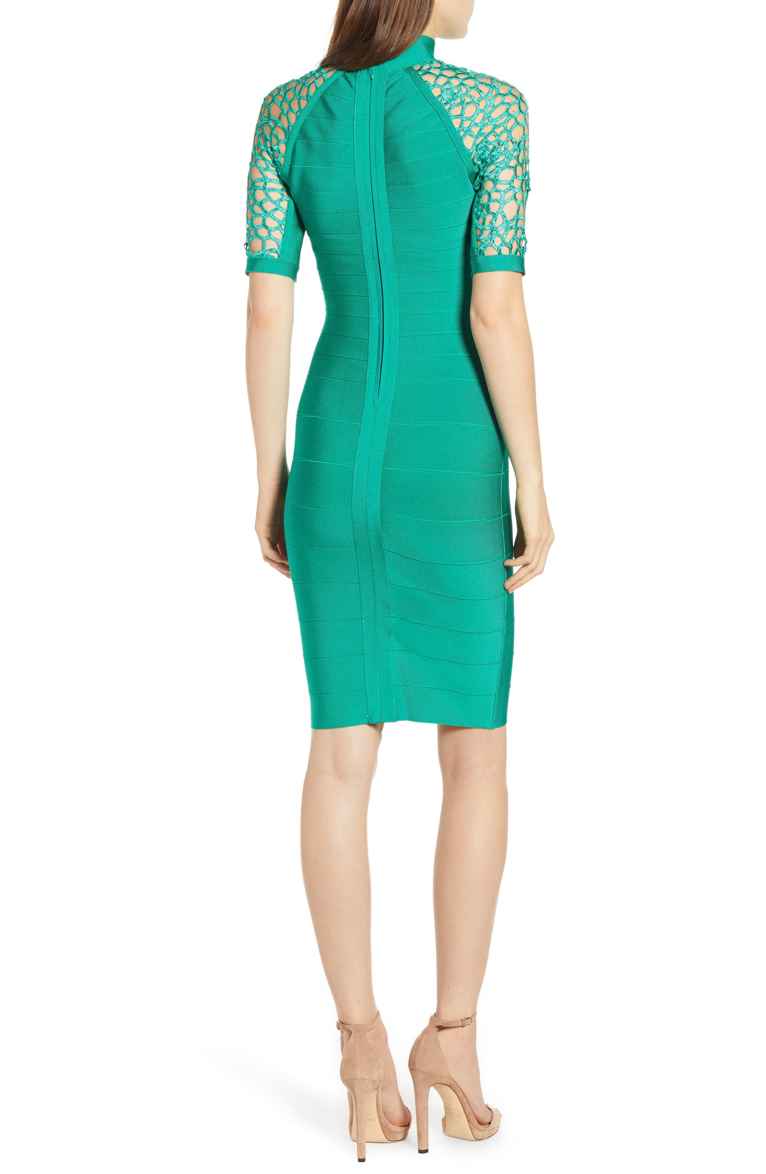SENTIMENTAL NY,                             Bandage Body-Con Dress,                             Alternate thumbnail 2, color,                             GREEN