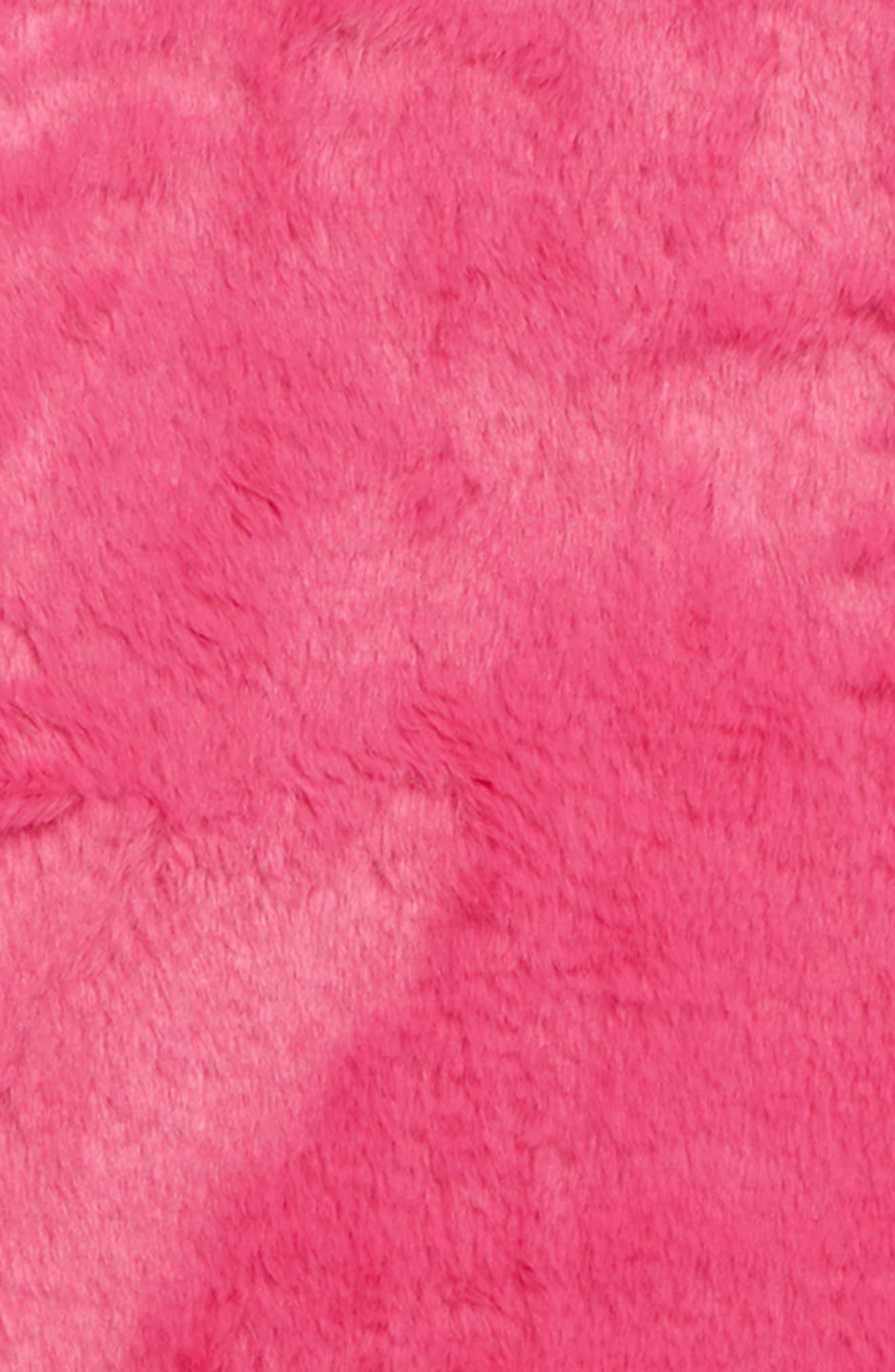 Faux Fur Tunic,                             Alternate thumbnail 2, color,                             PINK MAGENTA