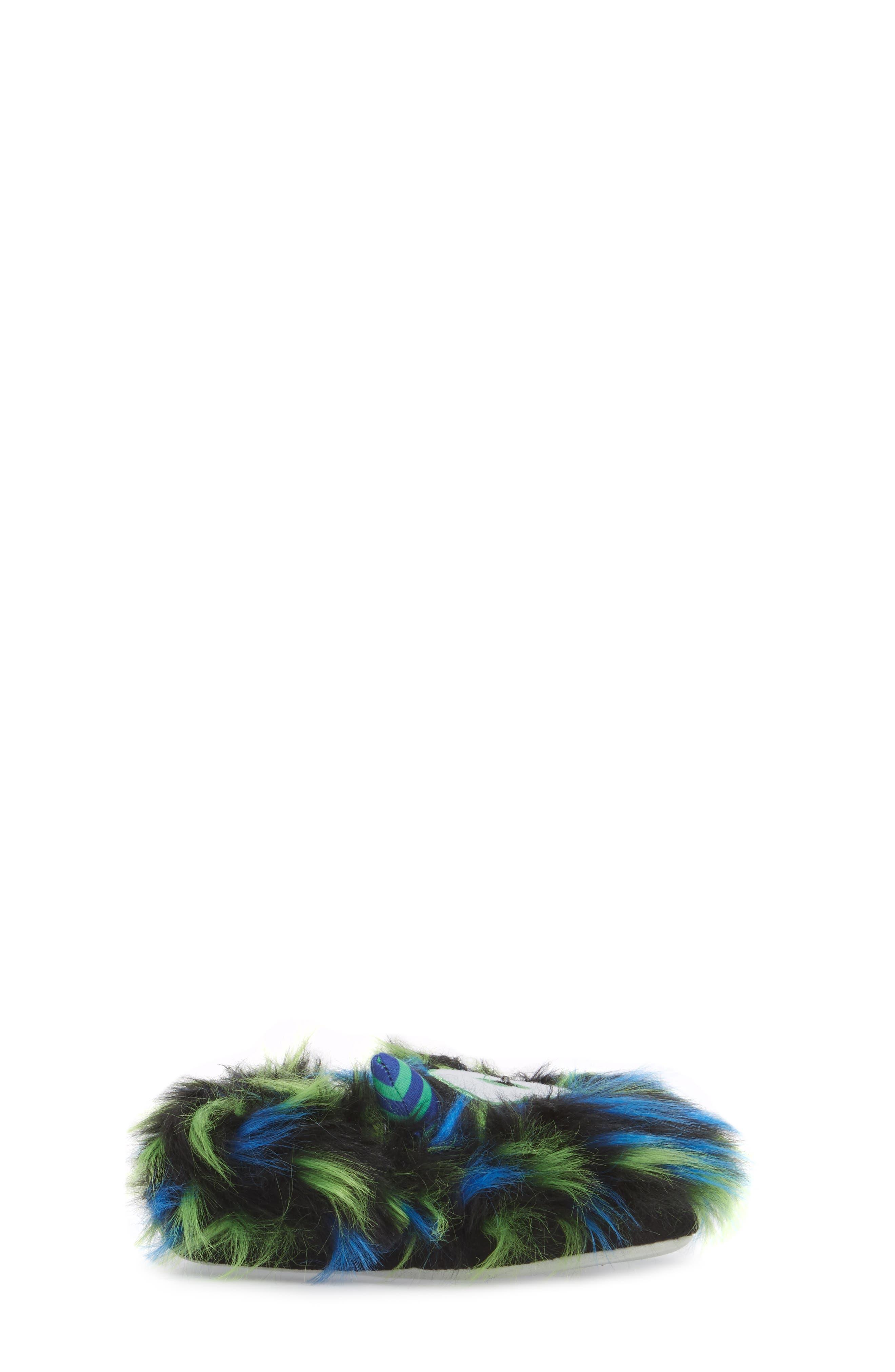 Cyclops Faux Fur Light-Up Eye Slipper,                             Alternate thumbnail 3, color,                             BLUE