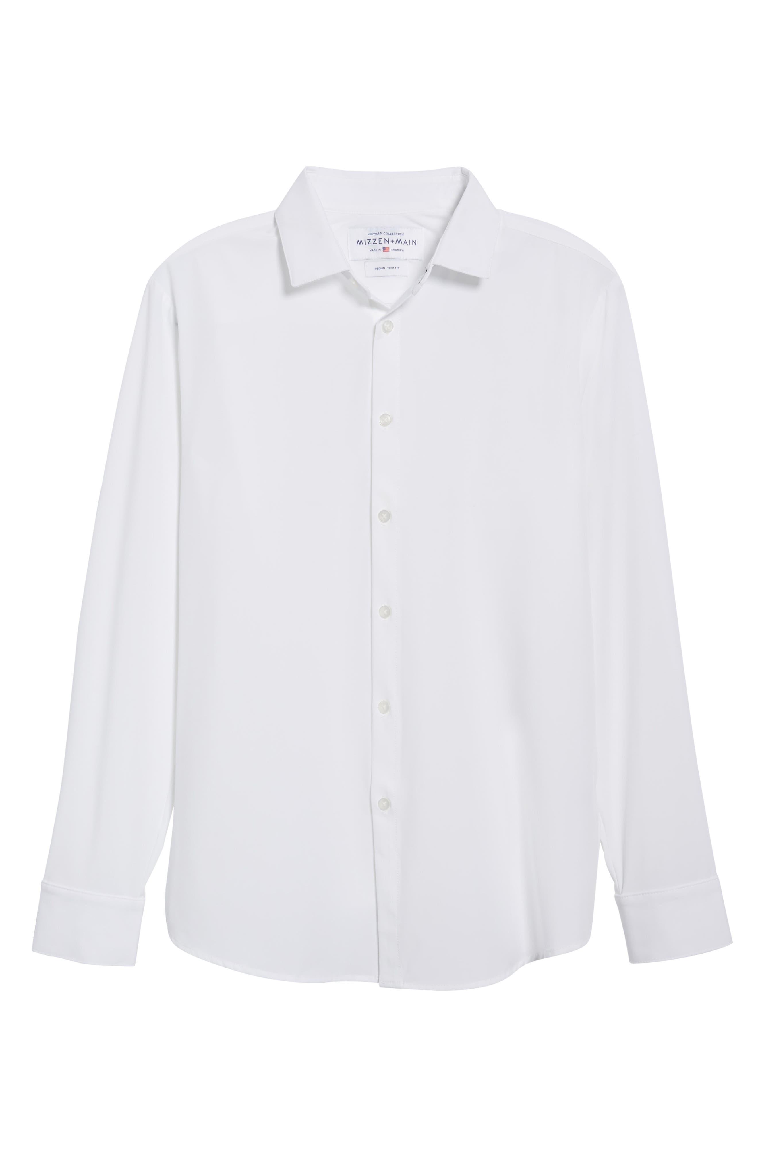 Manhattan Sport Shirt,                             Alternate thumbnail 6, color,                             WHITE