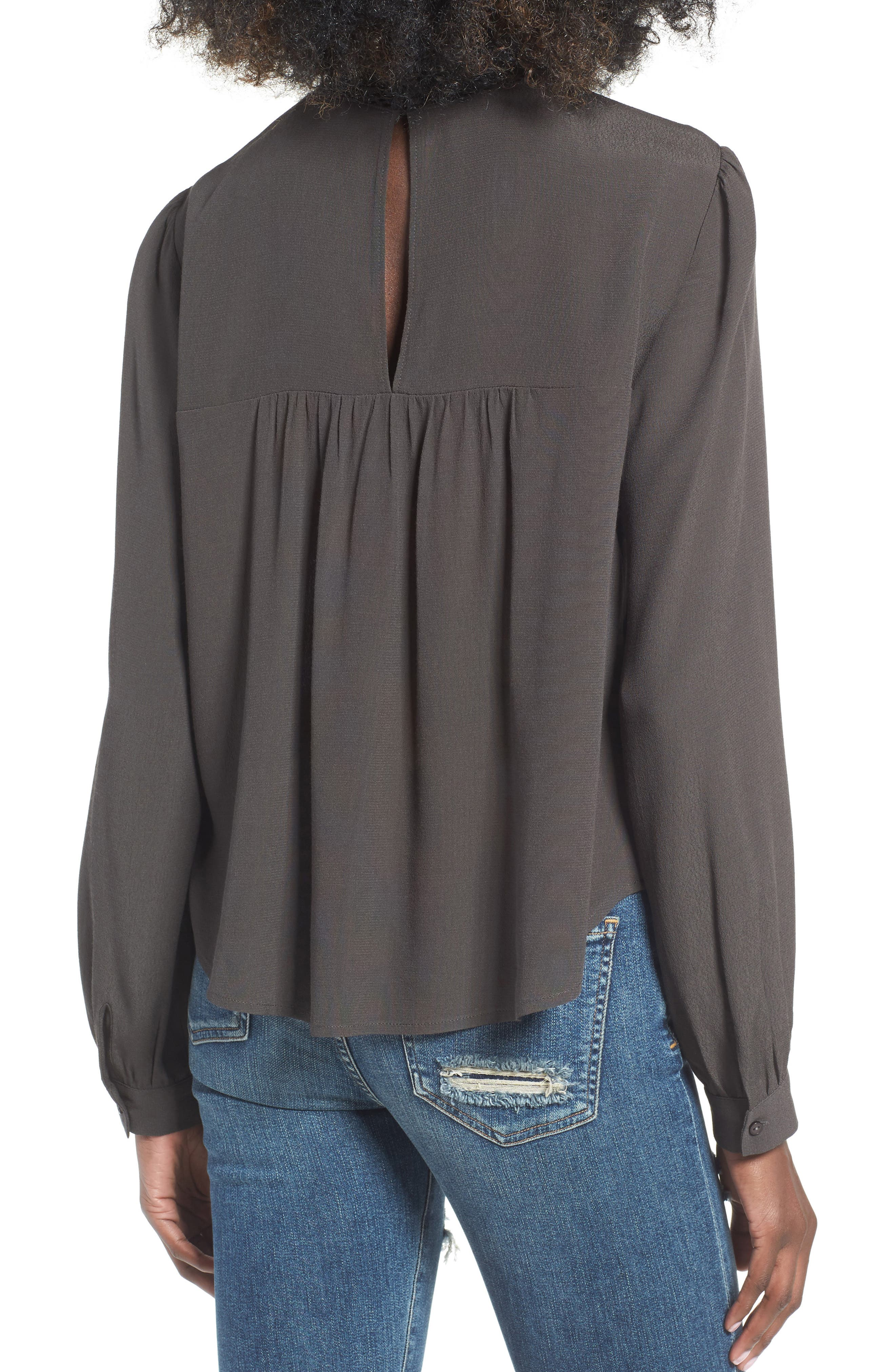 ASTR Embroidered Blouse,                             Alternate thumbnail 2, color,                             020