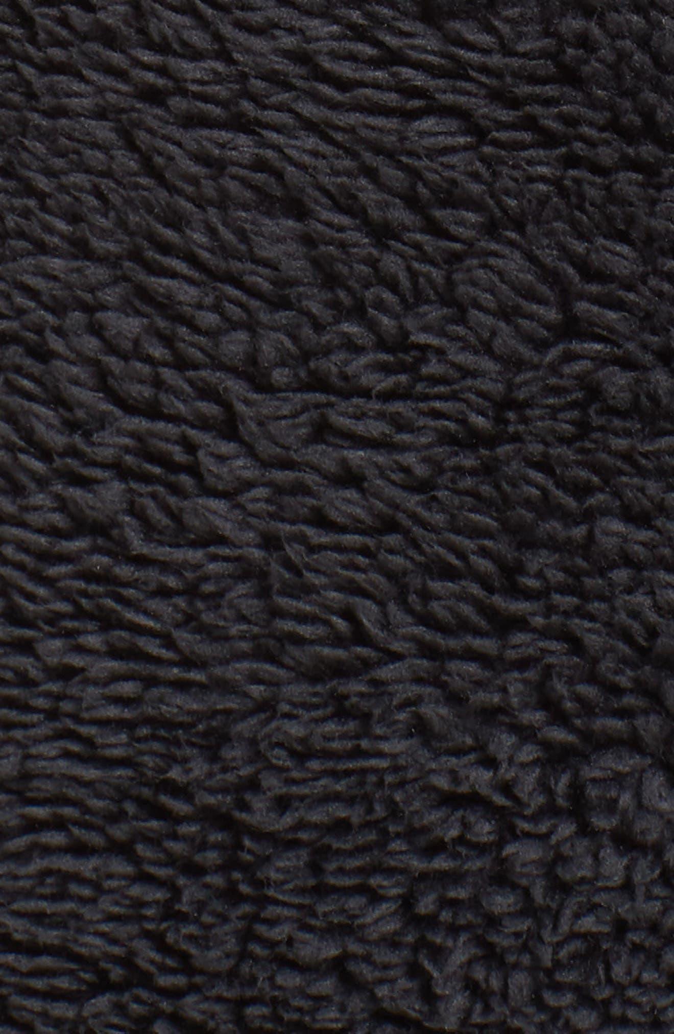 NIKE,                             Faux Shearling Pullover,                             Alternate thumbnail 6, color,                             BLACK/ BLACK