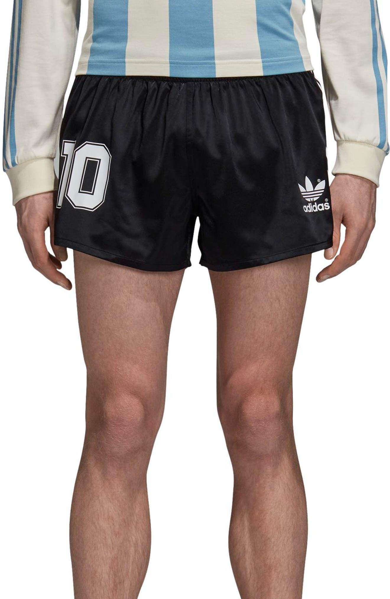 adidas Original Argentina 1987 Shorts,                             Main thumbnail 1, color,                             BLACK