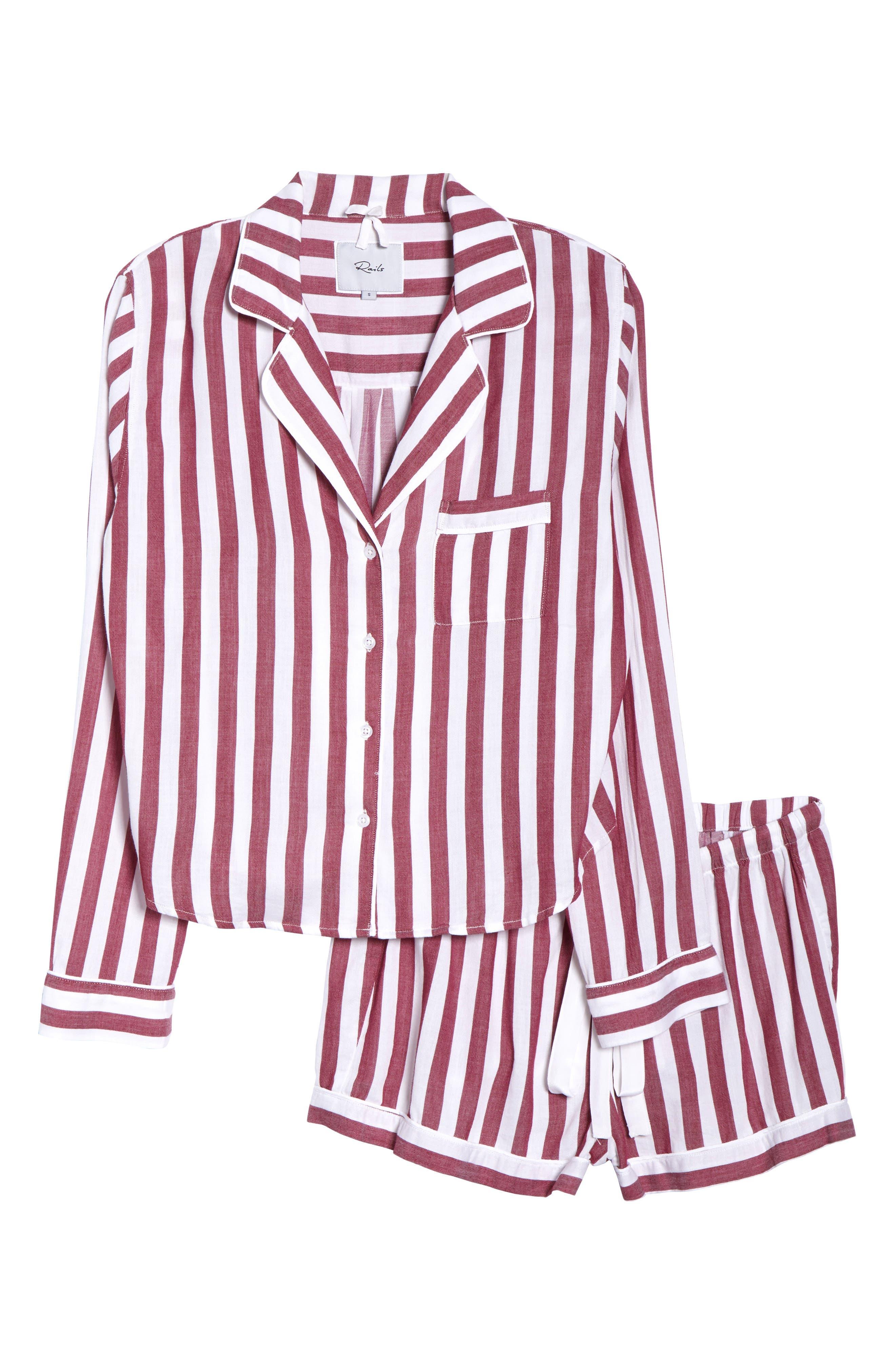 Stripe Short Pajamas,                             Alternate thumbnail 8, color,                             TOLEDO STRIPE