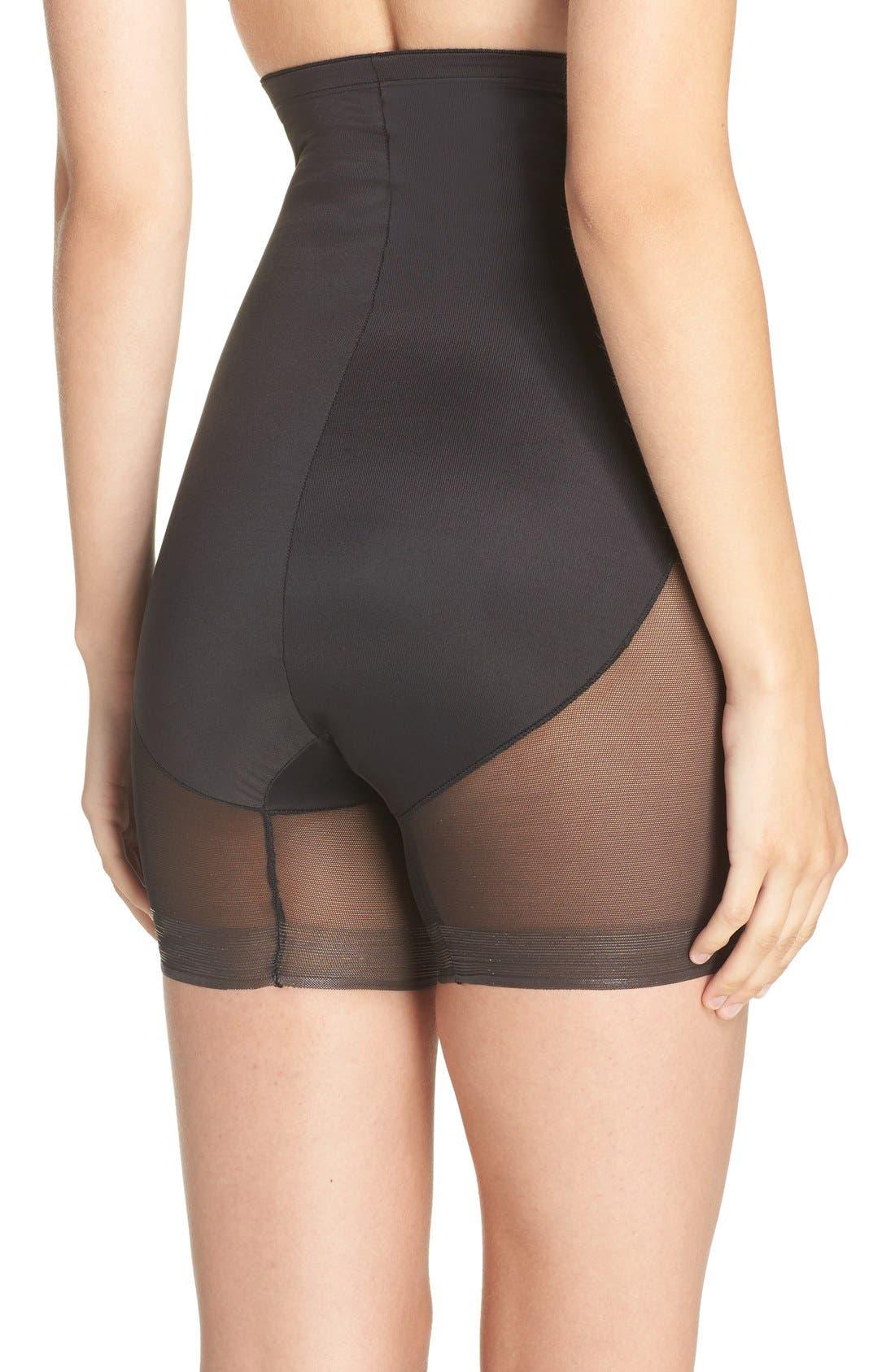 High Waist Shaping Shorts,                             Alternate thumbnail 3, color,