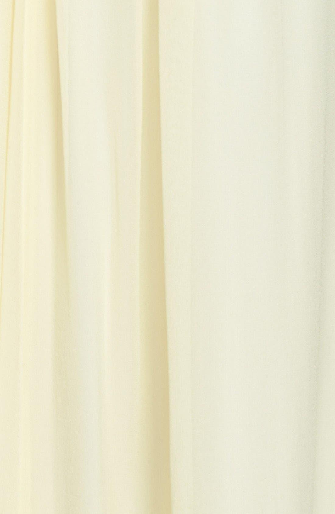 Asymmetrical Chiffon Dress,                             Alternate thumbnail 3, color,                             740