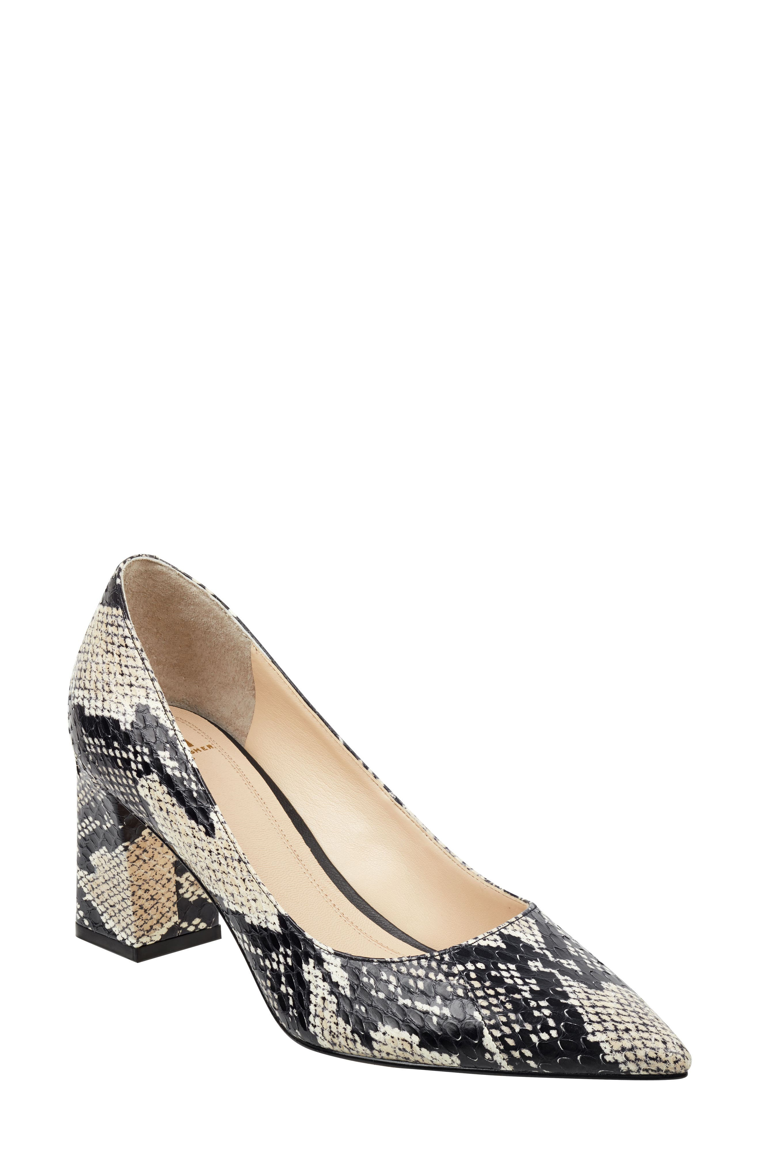 'Zala' Pump,                             Main thumbnail 1, color,                             BEIGE/ BLACK SNAKE PRINT