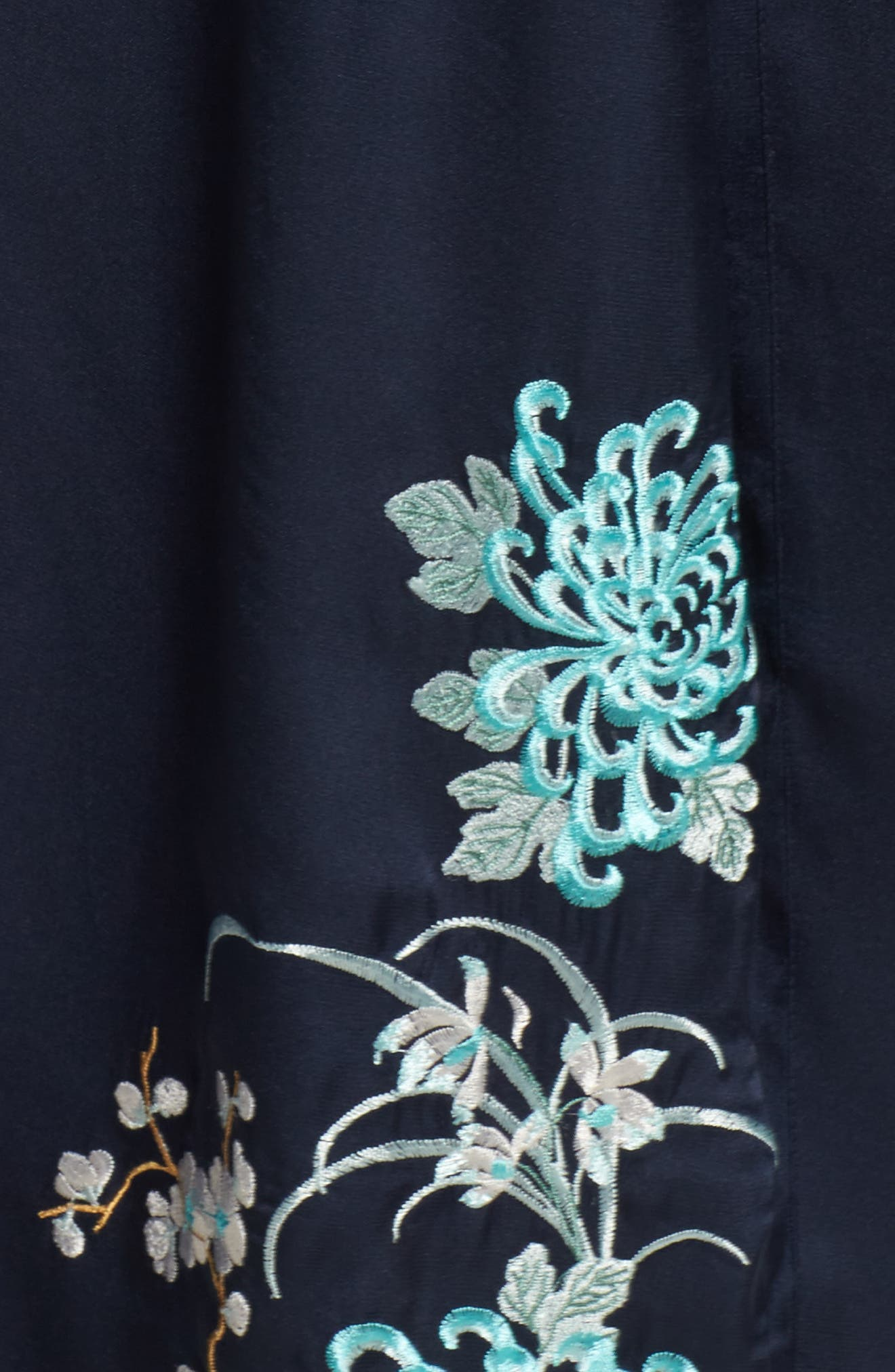 Embroidered Long Robe,                             Alternate thumbnail 5, color,                             410
