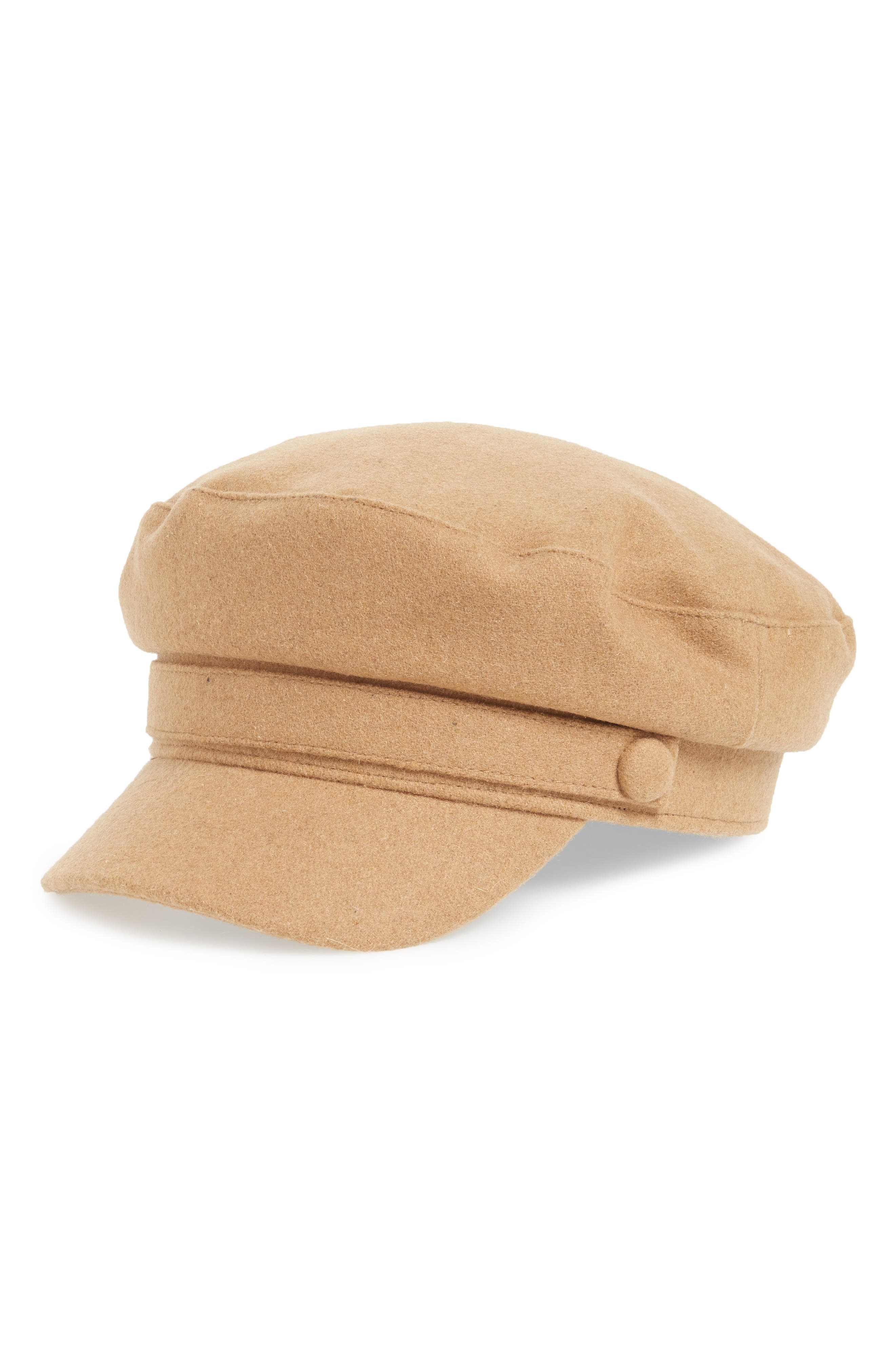 Cabbie Baker Boy Cap, Main, color, TAN CAMEL HEATHER